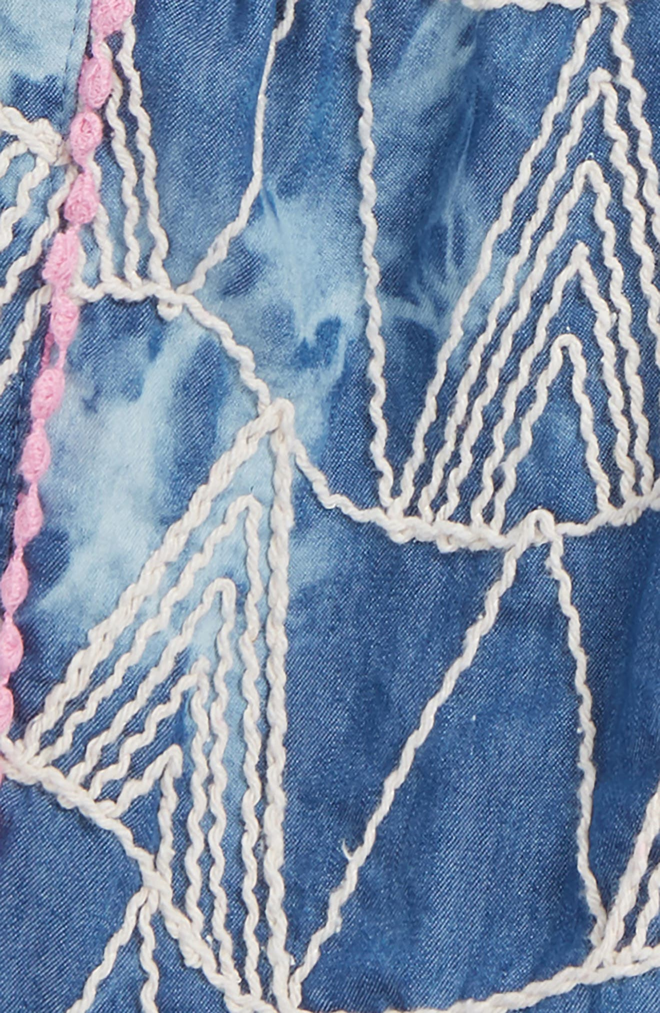 Mikki Miette Joi Embroidered Shorts,                             Alternate thumbnail 2, color,                             400