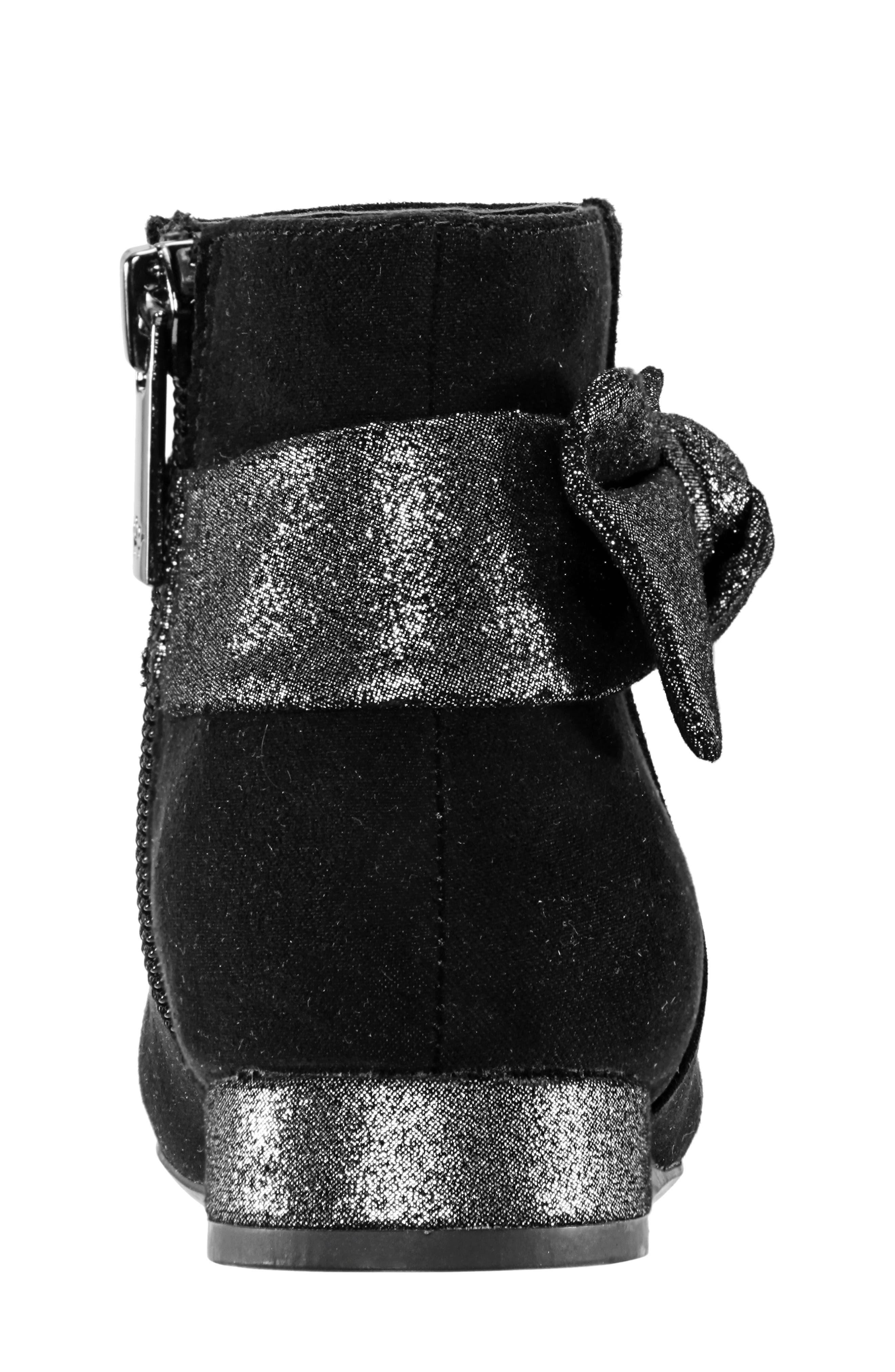 Evelin Block Heel Bootie,                             Alternate thumbnail 7, color,                             BLACK MICRO SUEDE
