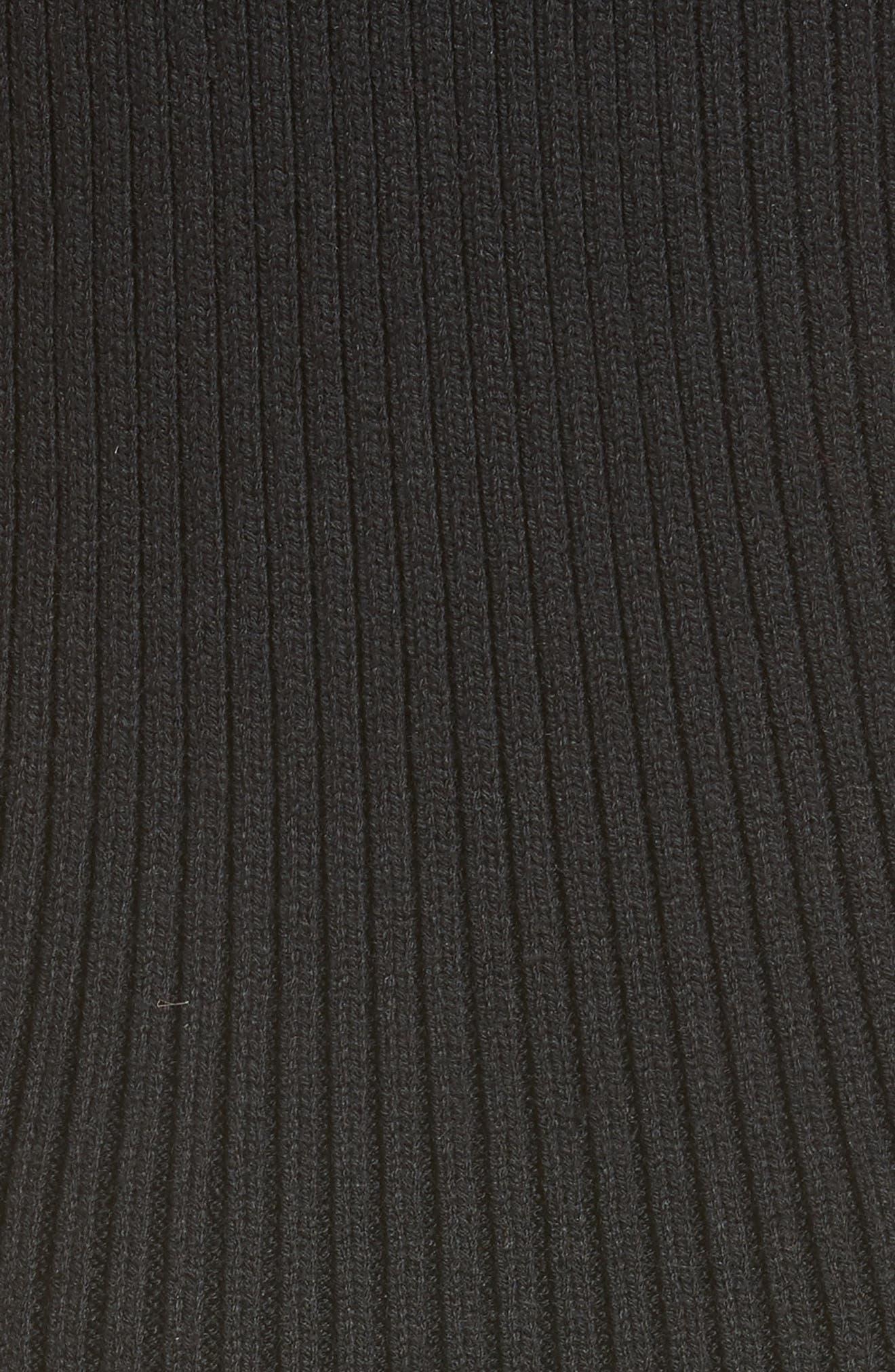 Serat Stripe Rib Knit Dress,                             Alternate thumbnail 5, color,                             001