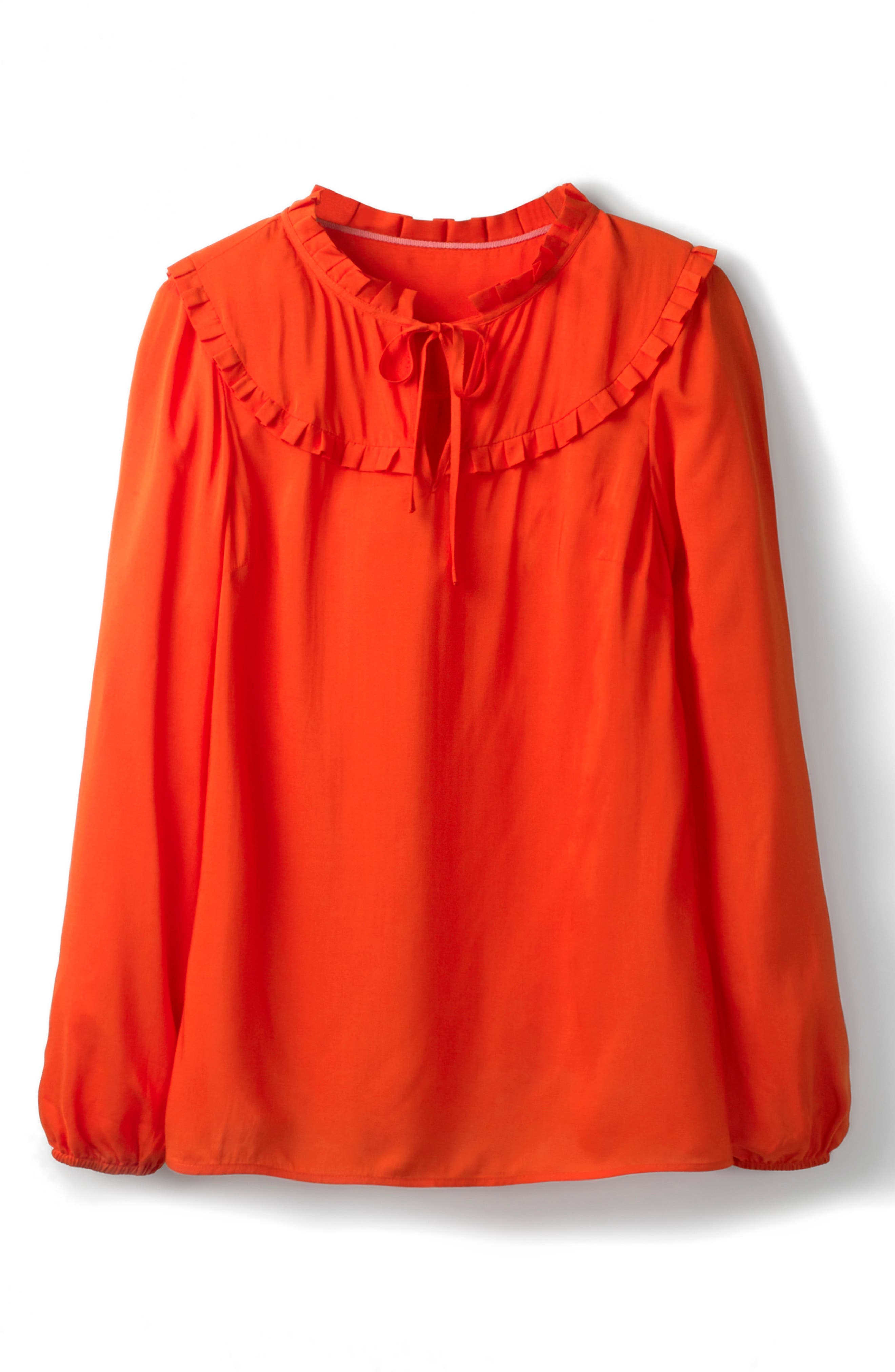 Betsy Ruffle Top,                             Alternate thumbnail 4, color,                             RED POP