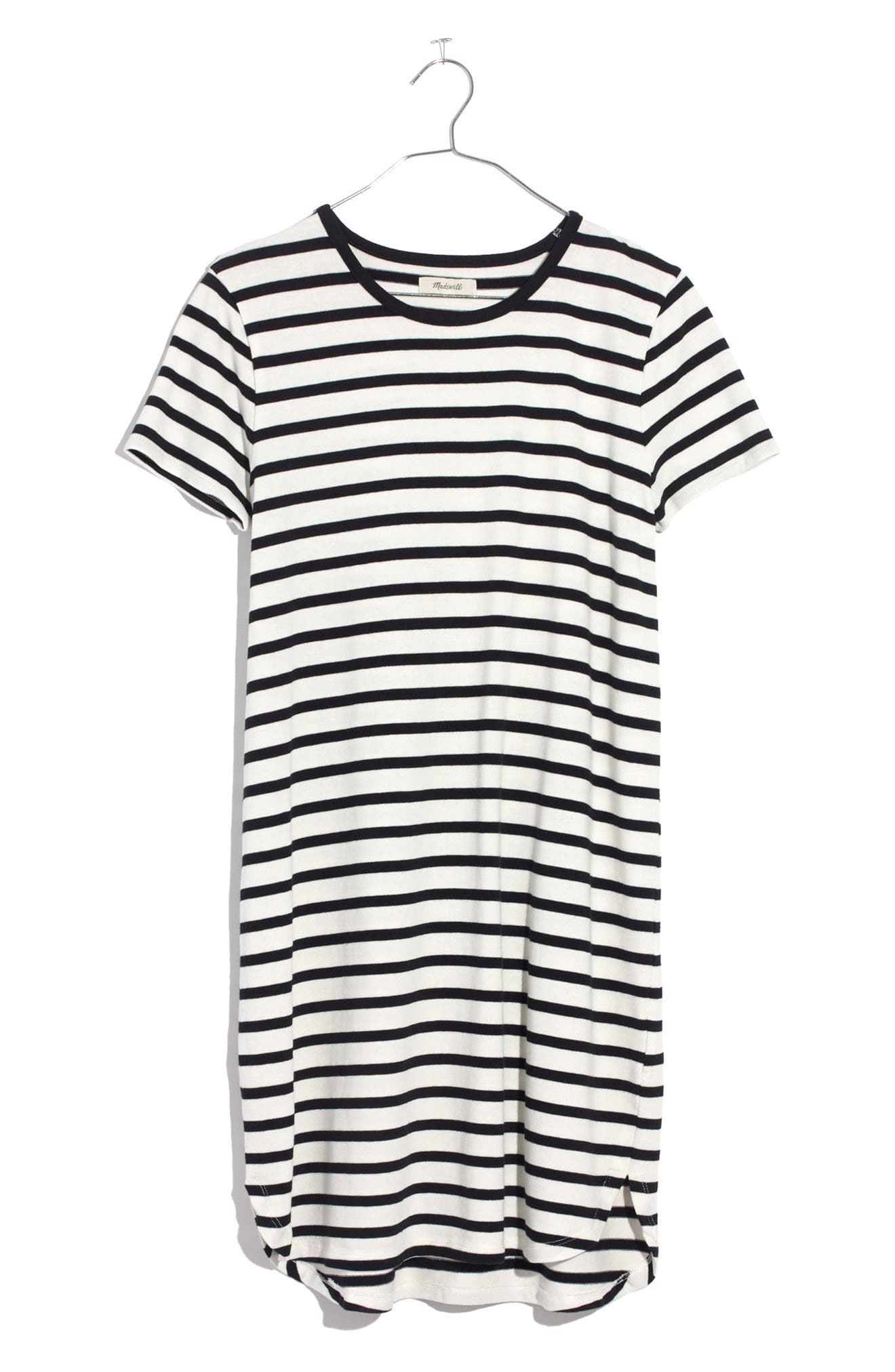 Stripe T-Shirt Dress,                             Alternate thumbnail 9, color,