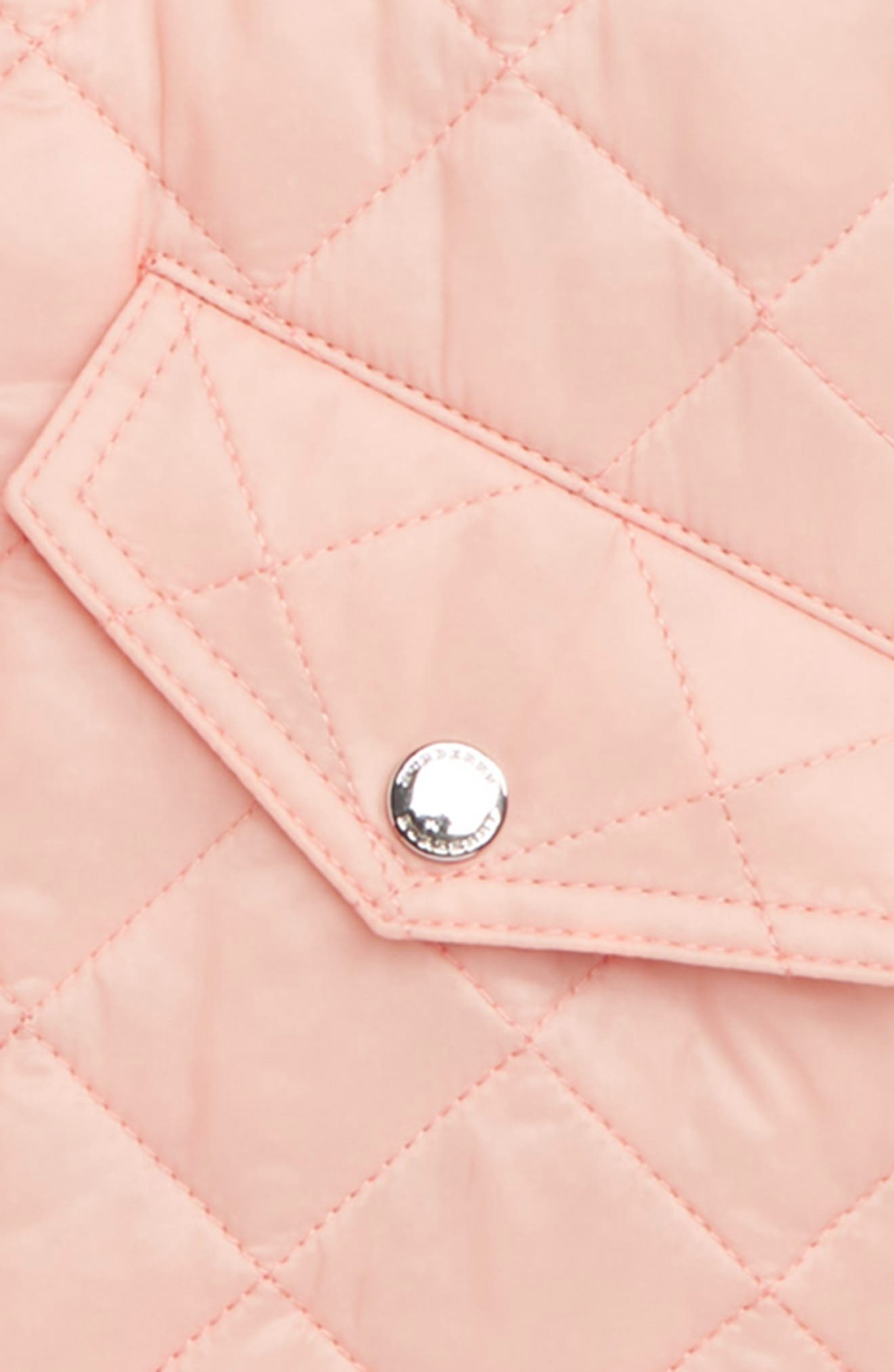 BURBERRY,                             Ilana Quilted Water Repellent Jacket,                             Alternate thumbnail 2, color,                             VINTAGE ROSE