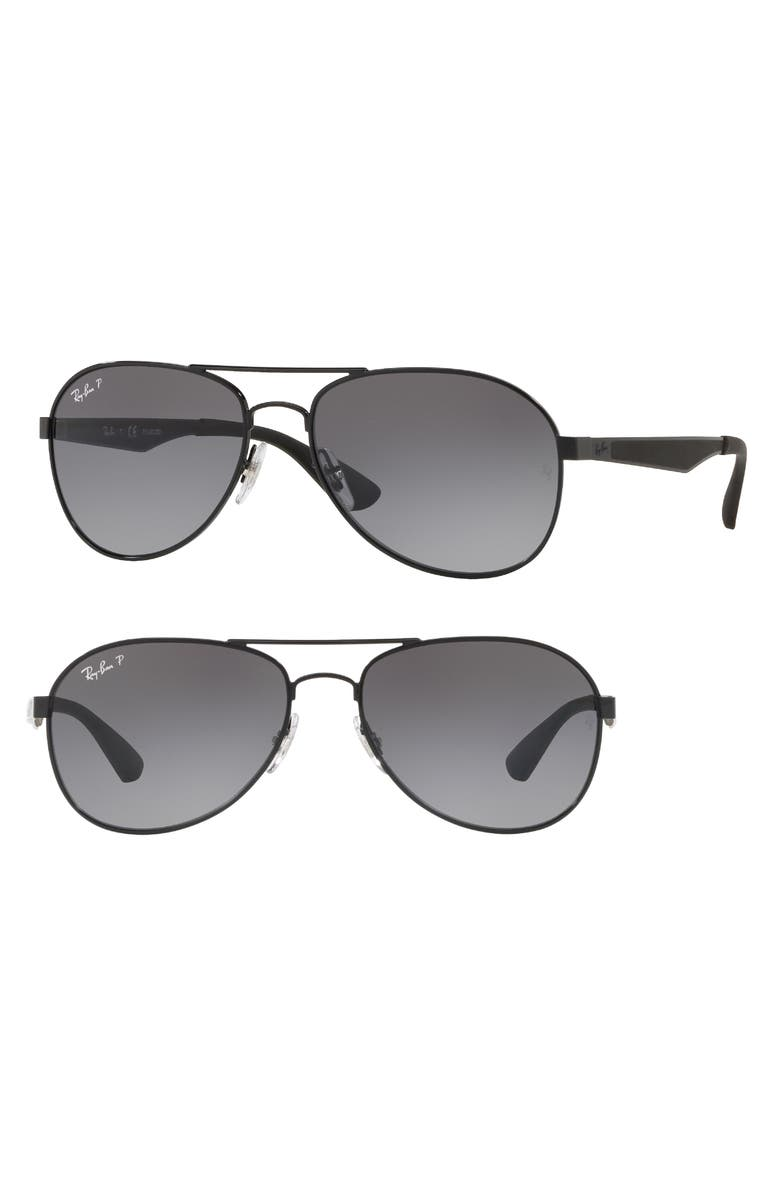 569684907b Ray-Ban Active Lifestyle 61mm Polarized Pilot Sunglasses