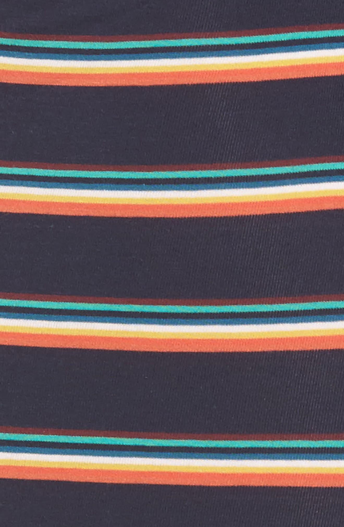 Stripe Stretch Cotton Trunks,                             Alternate thumbnail 4, color,                             847