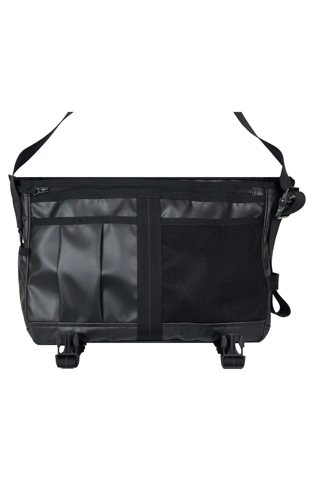 'NightHawk' Messenger Bag,                             Alternate thumbnail 4, color,                             BLACK
