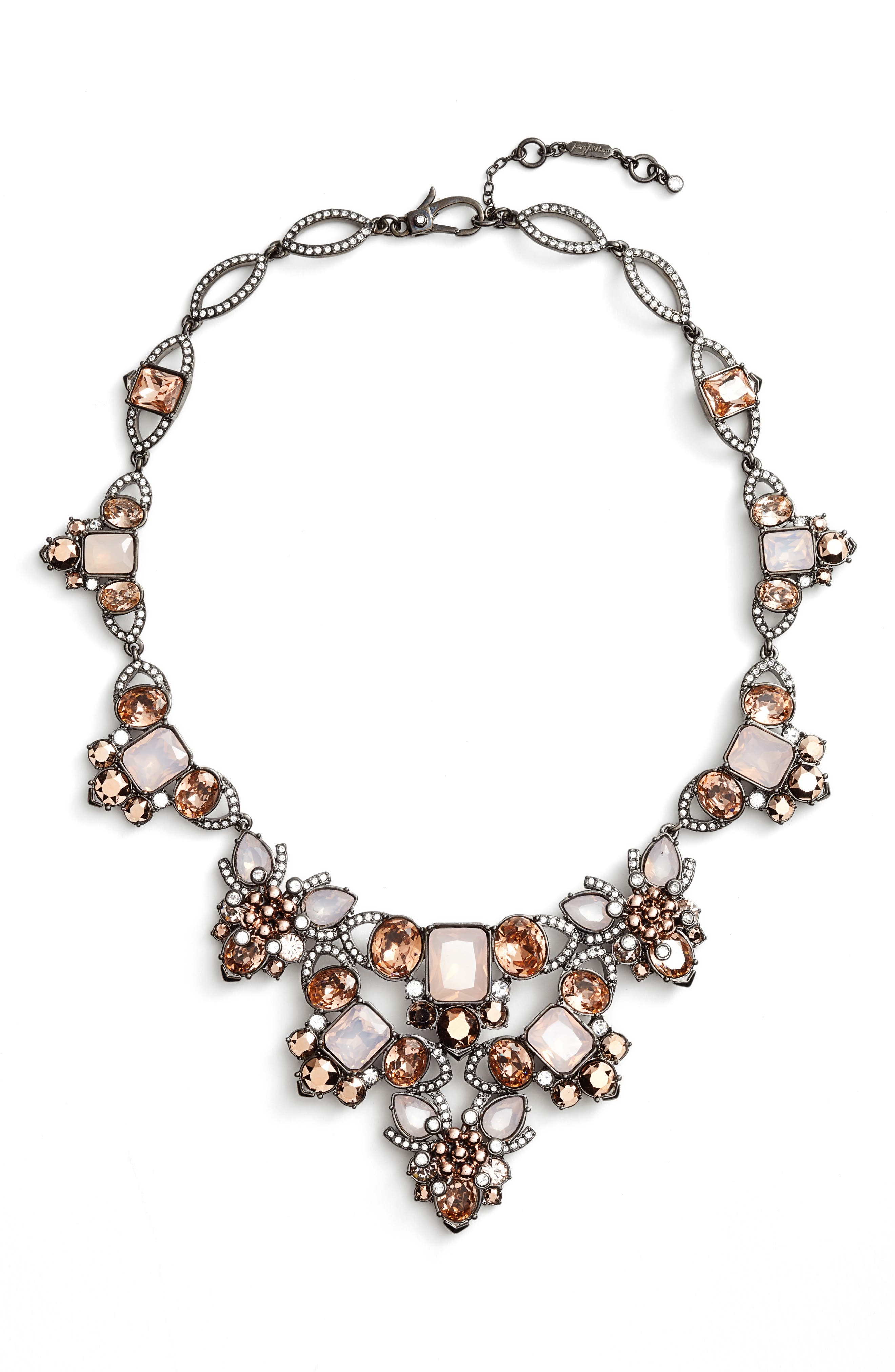 Crystal Drama Collar Necklace, Main, color, 650