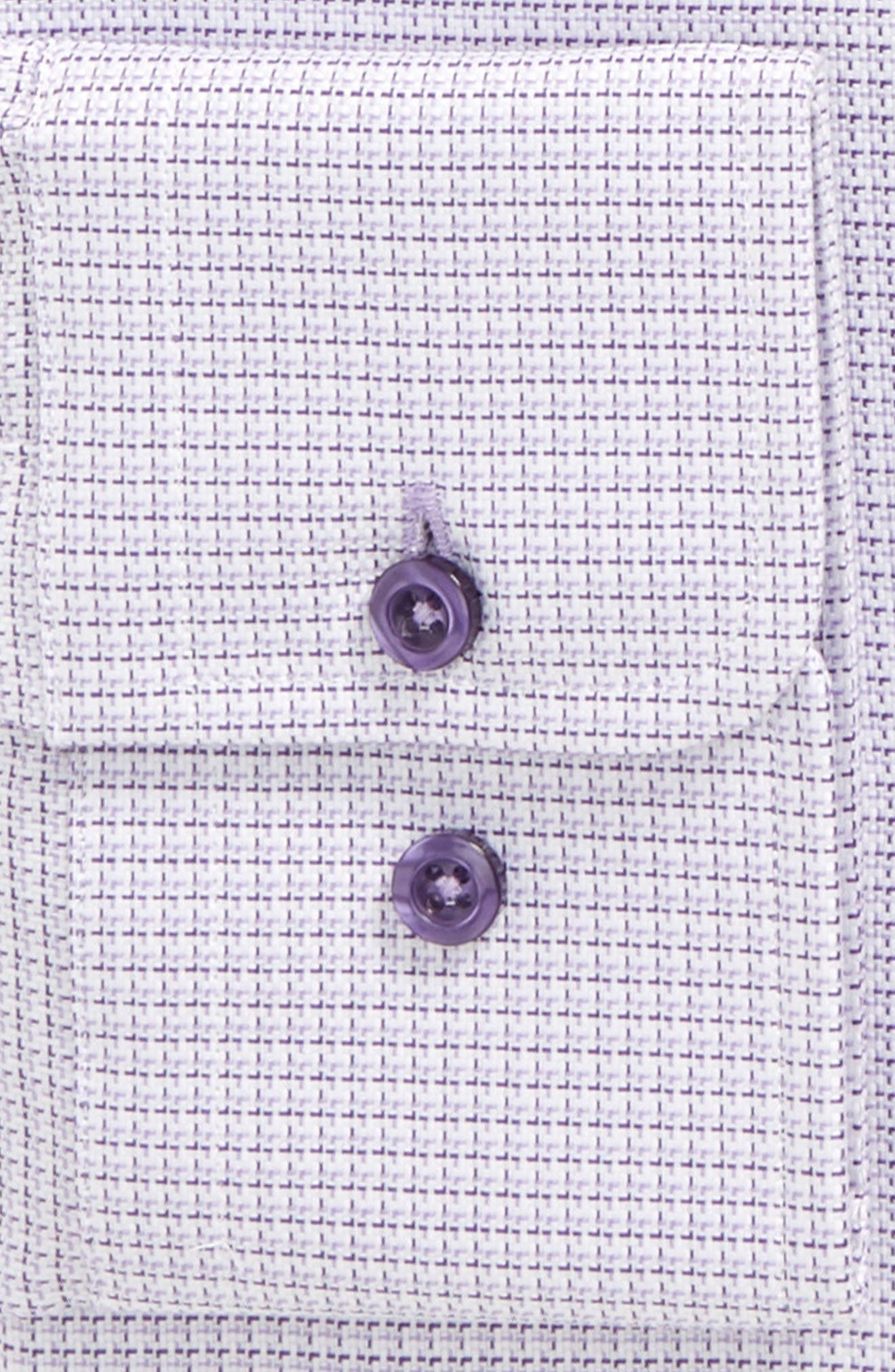 Trim Fit Check Dress Shirt,                             Alternate thumbnail 6, color,                             LILAC