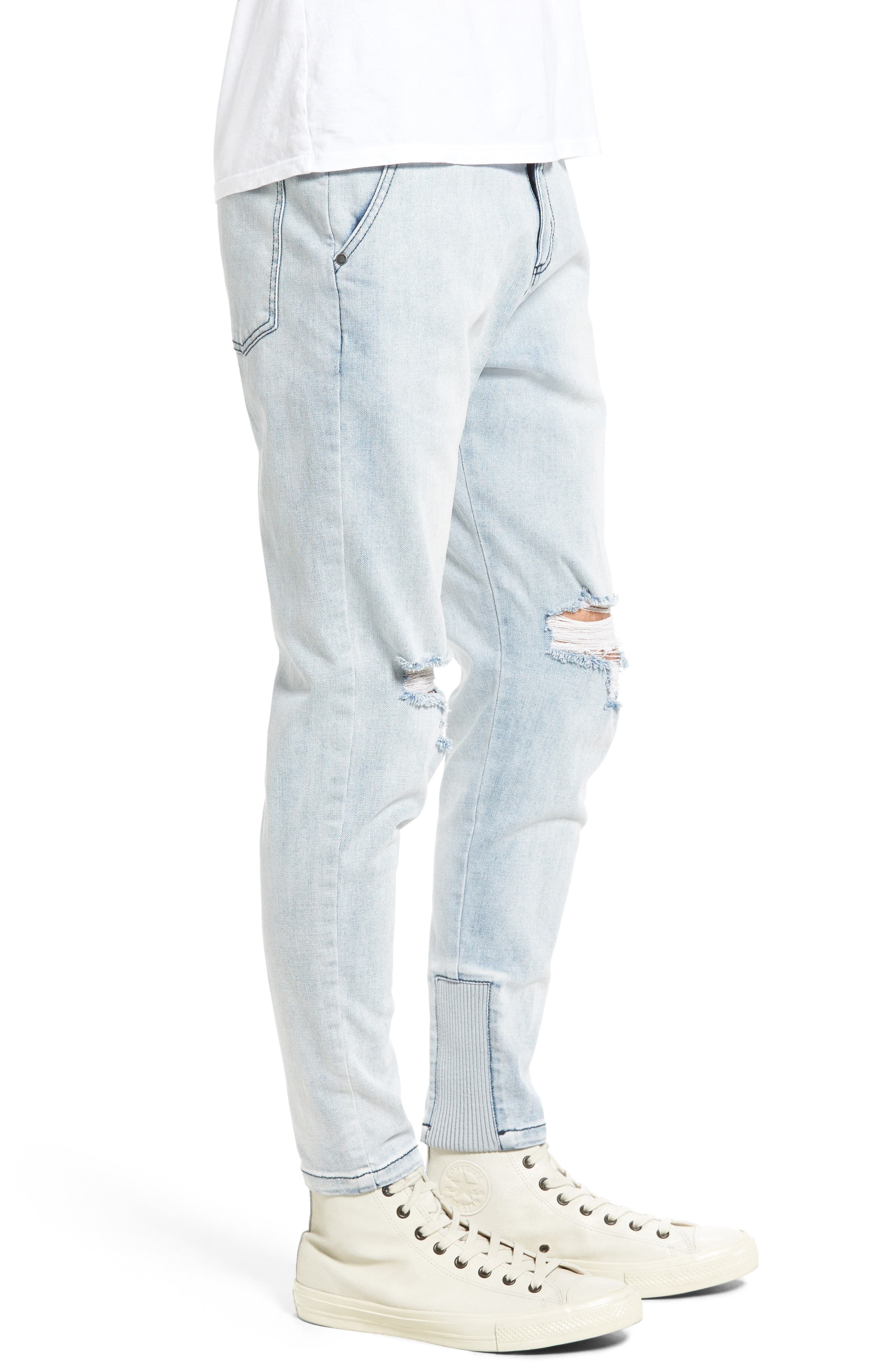 Sharpshot Slouchy Skinny Fit Denim Pants,                             Alternate thumbnail 6, color,
