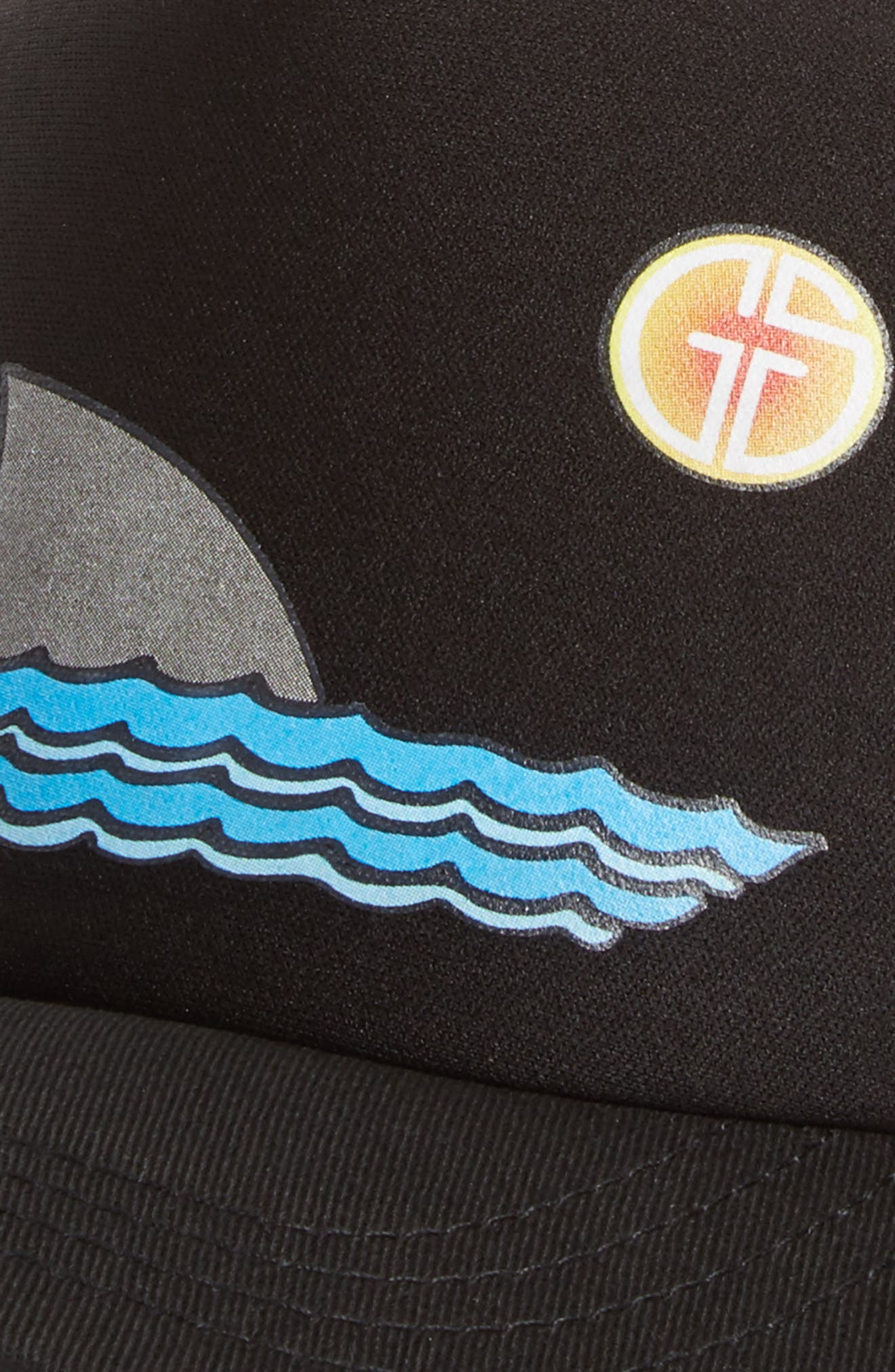 Trucker Hat,                             Alternate thumbnail 3, color,                             BLACK SHARKY