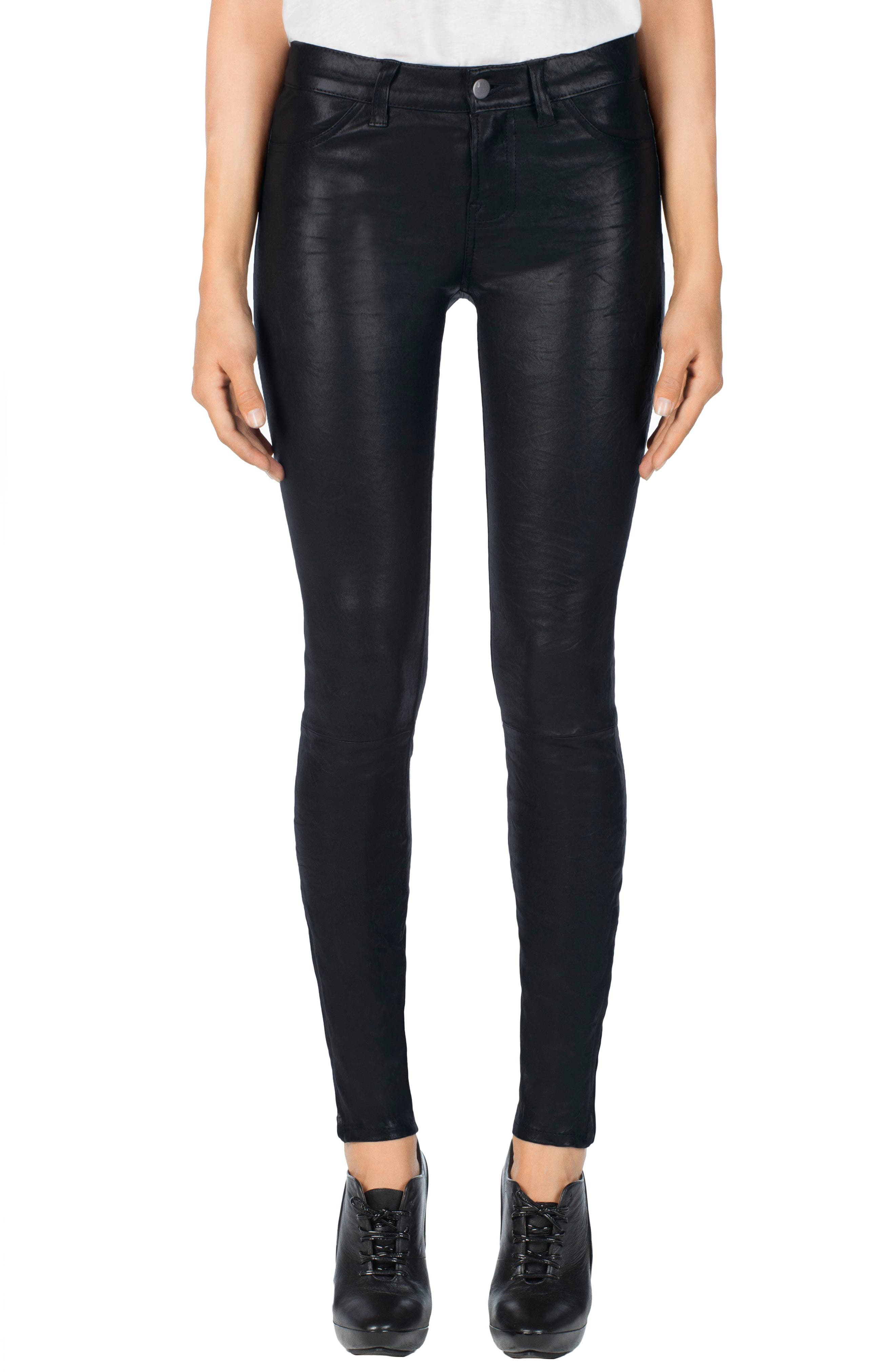 '8001' Lambskin Leather Pants,                             Main thumbnail 16, color,