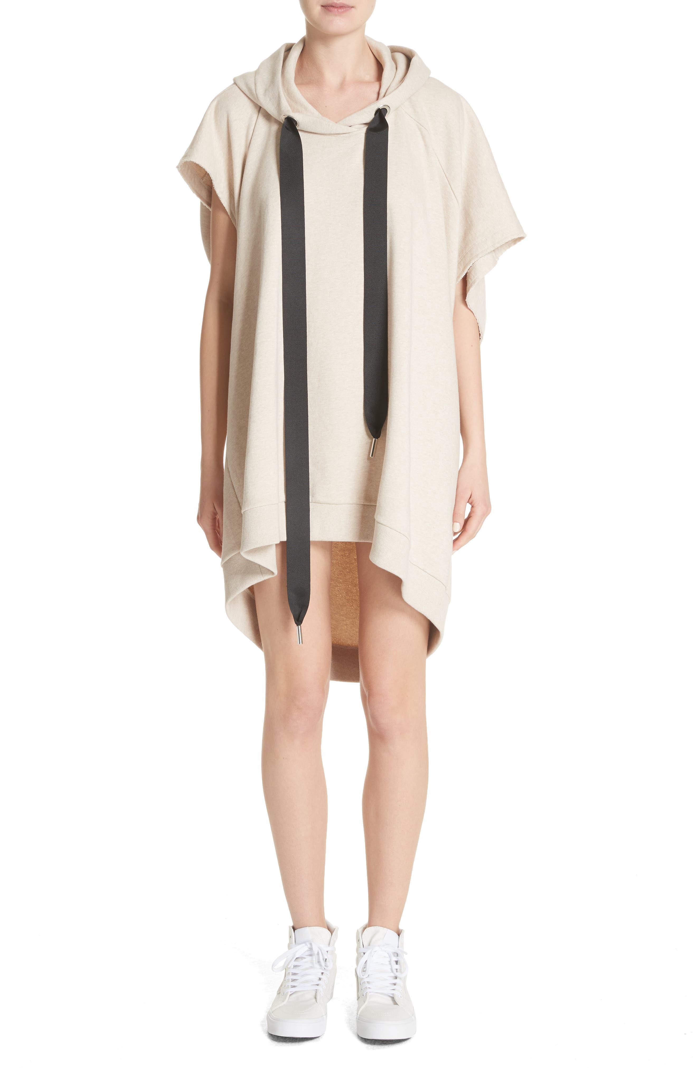 Marques'Almeida Asymmetrical Cap Sleeve Hoodie,                         Main,                         color, 250