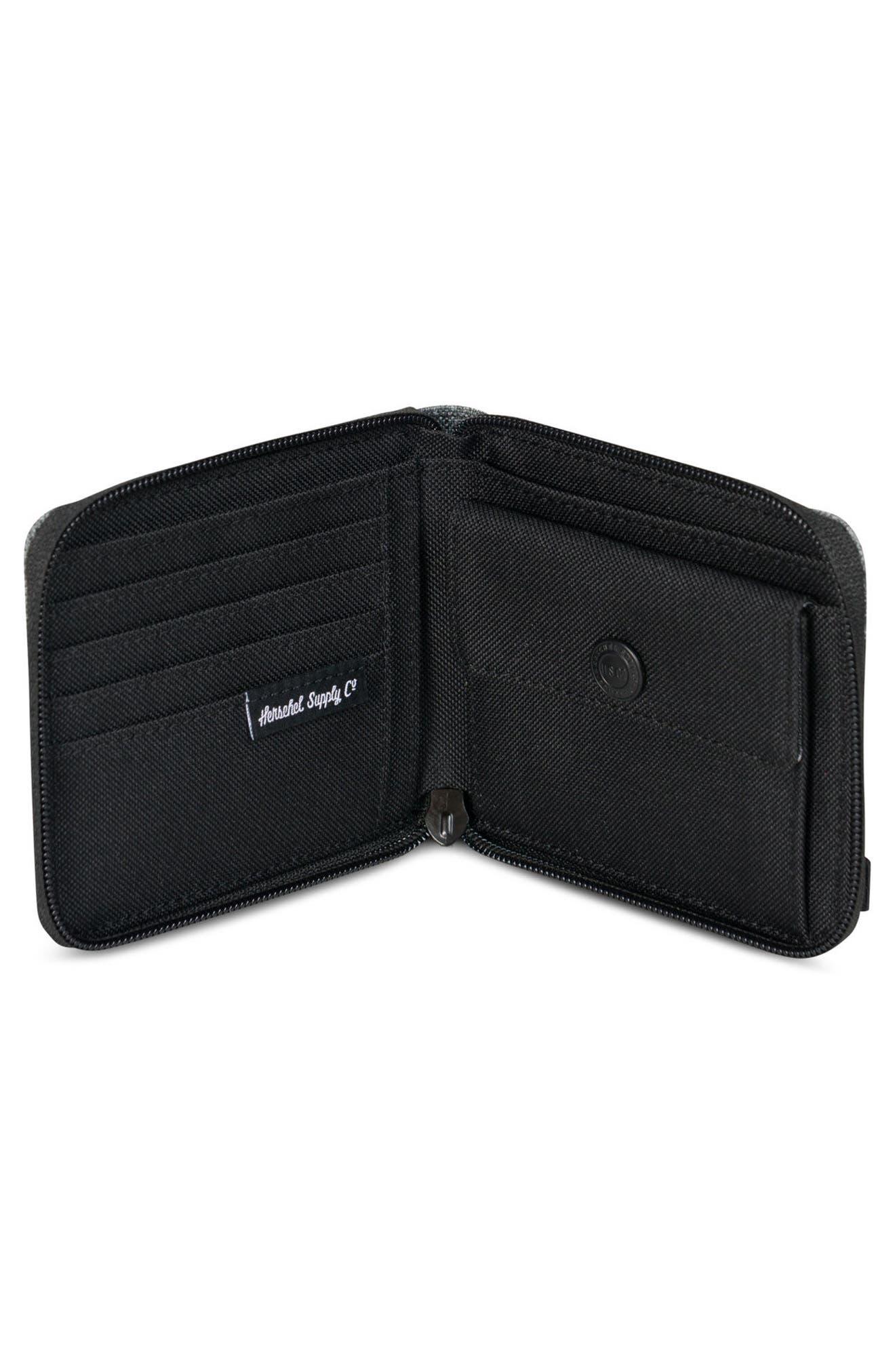 Walt RFID Zip Wallet,                             Alternate thumbnail 4, color,