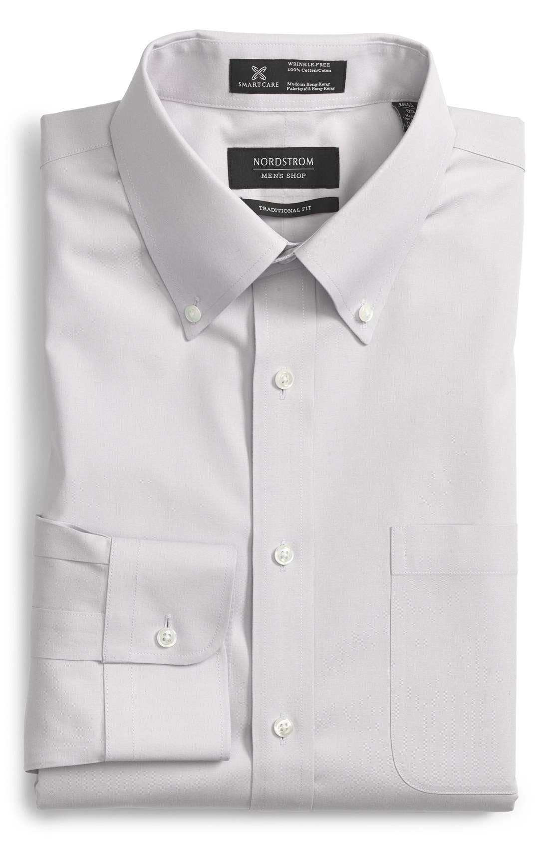 Smartcare<sup>™</sup> Traditional Fit Pinpoint Dress Shirt,                             Main thumbnail 5, color,