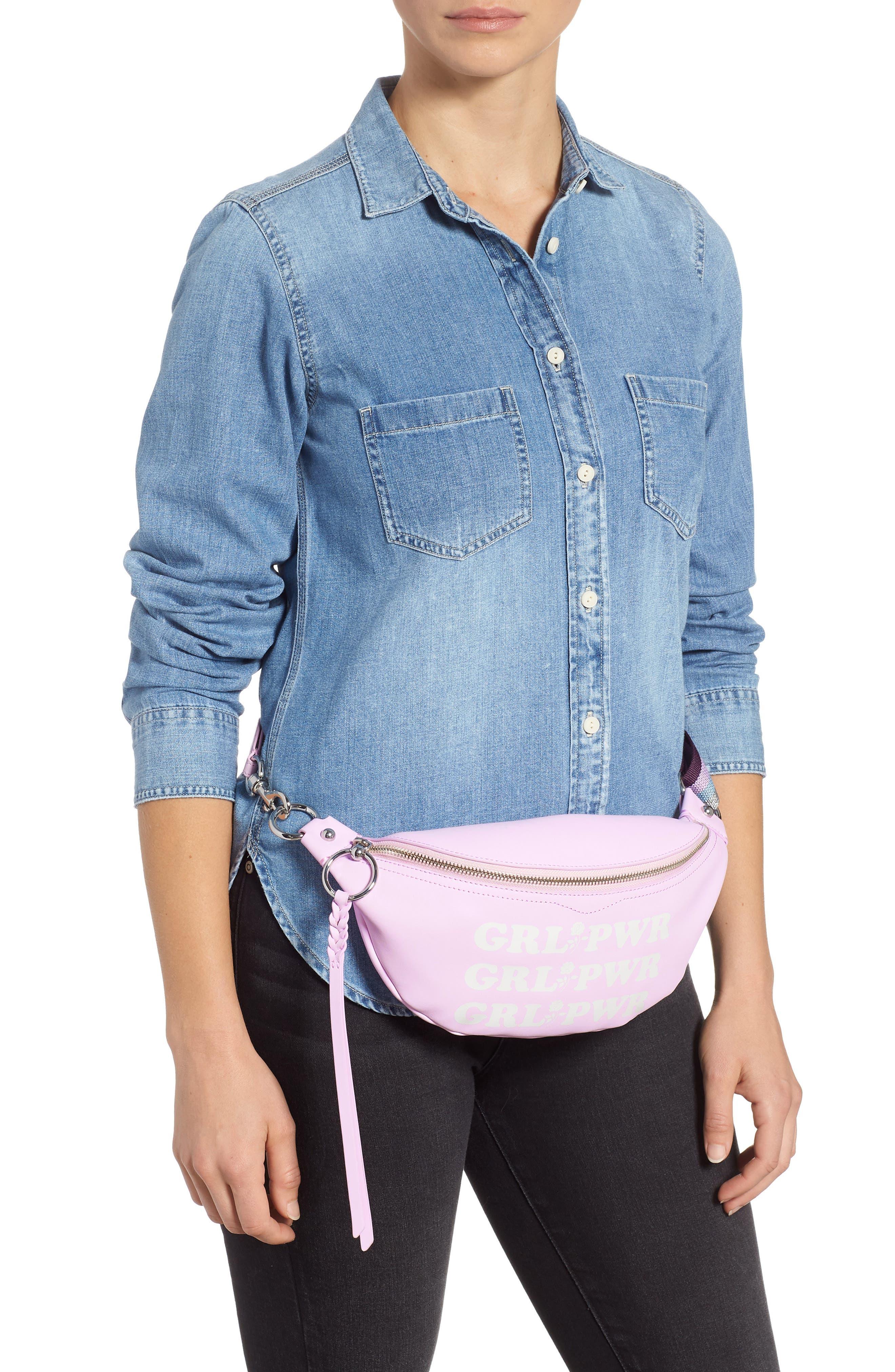 REBECCA MINKOFF,                             Bree - GRL PWR Leather Belt Bag,                             Alternate thumbnail 2, color,                             500