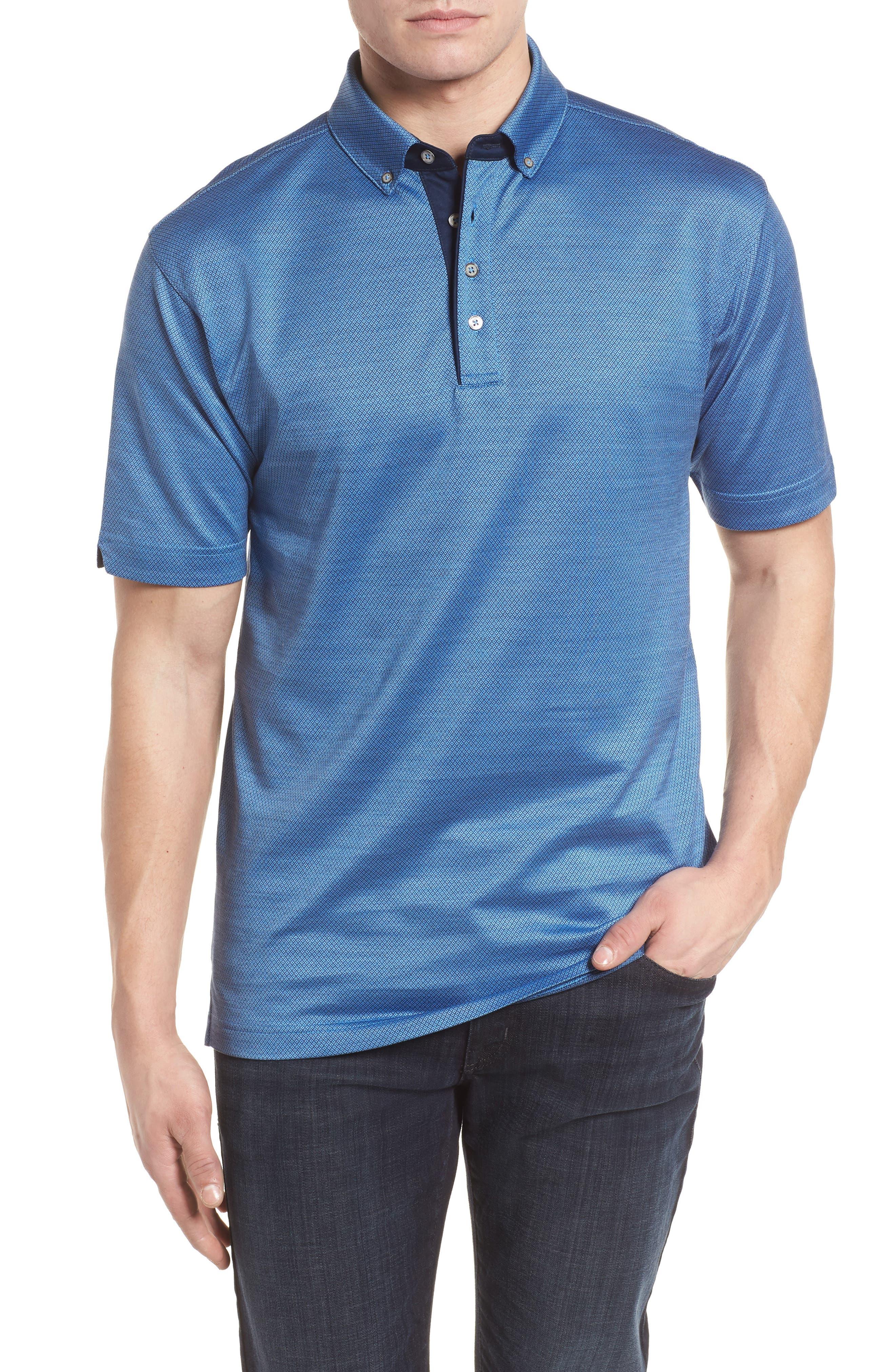 Mercerized Cotton Jacquard Polo,                             Main thumbnail 3, color,