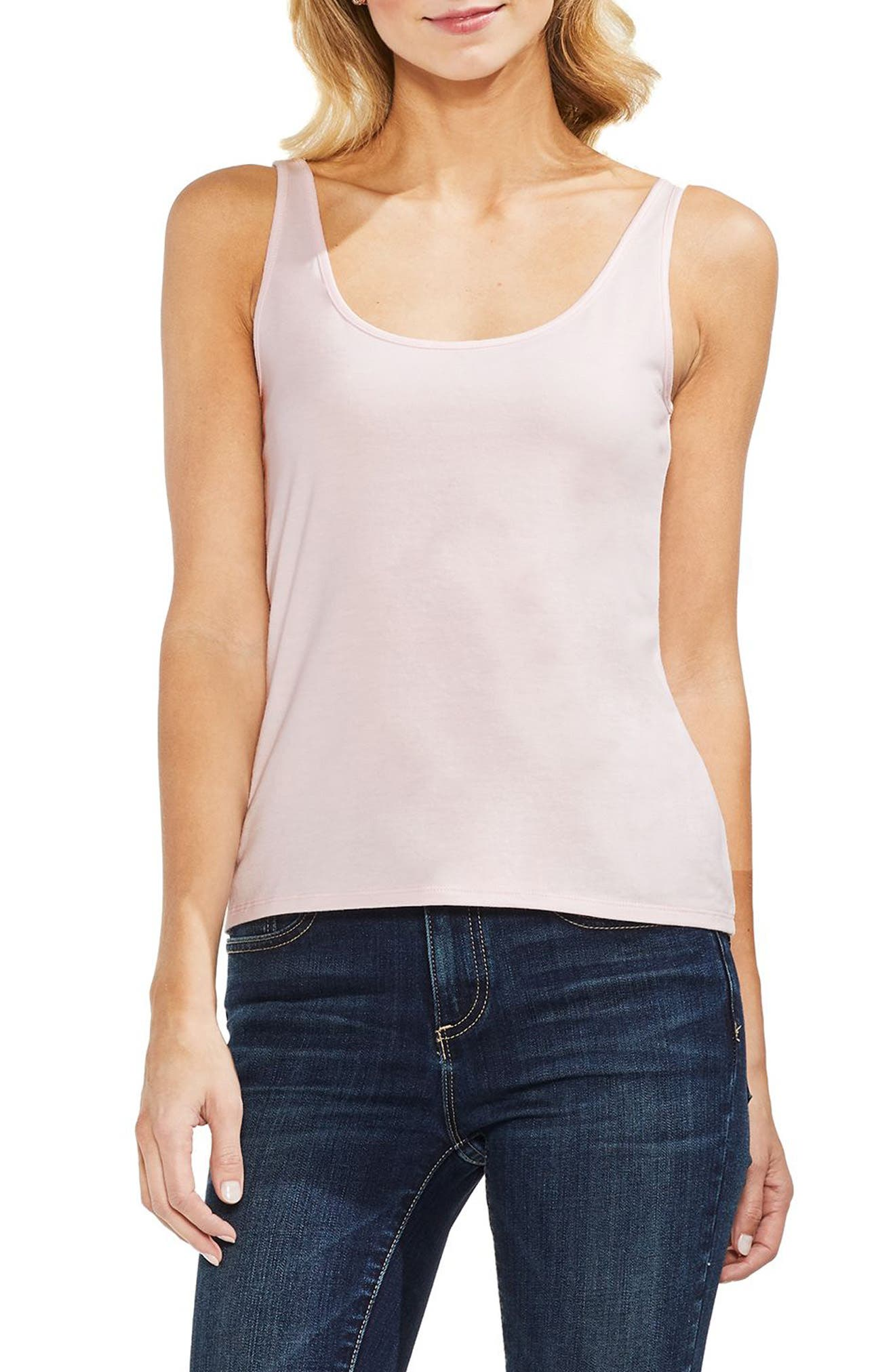 Sleeveless Tank Top,                         Main,                         color, PINK BLISS