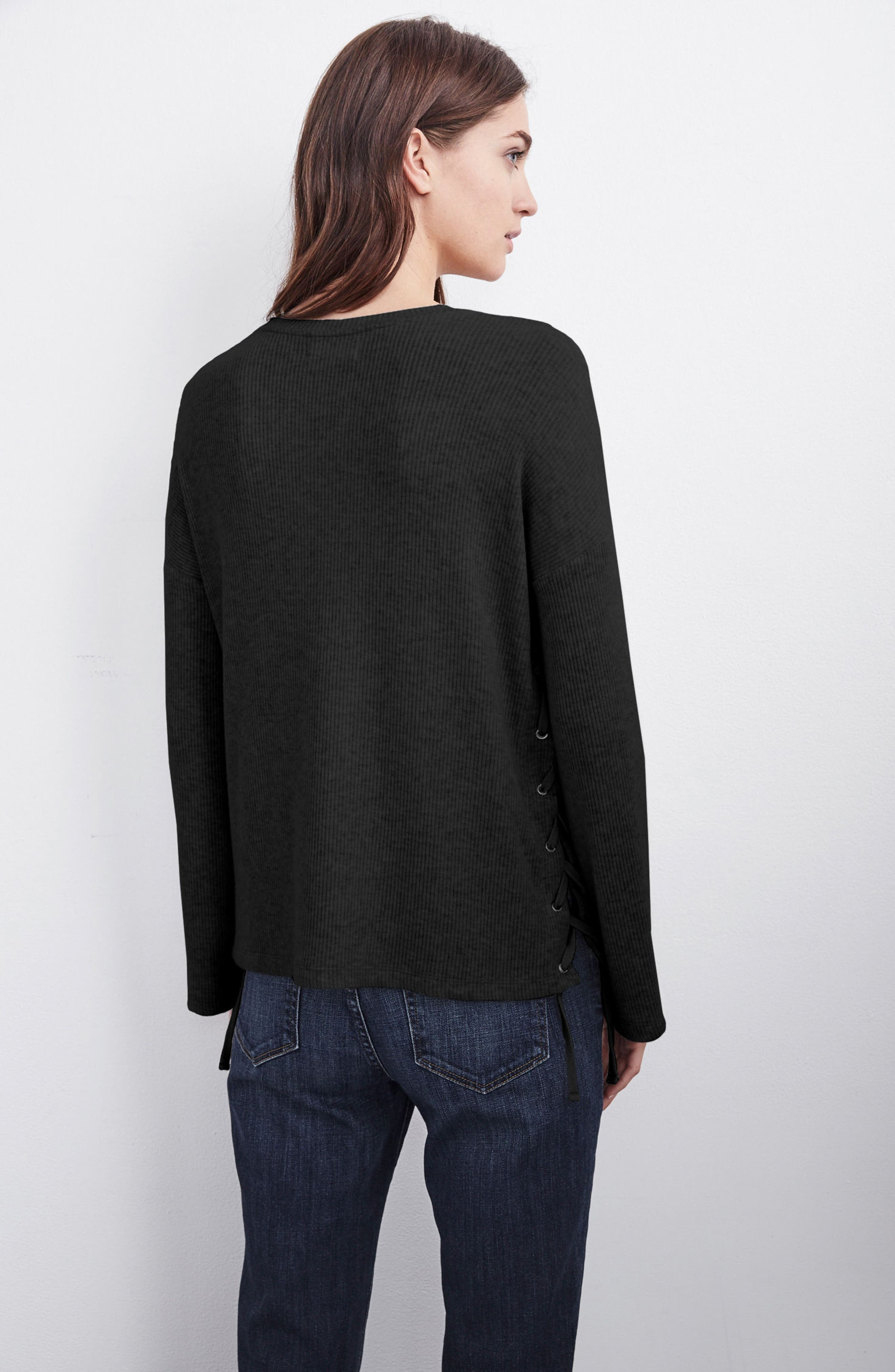 Lace-Up Pullover,                             Alternate thumbnail 7, color,
