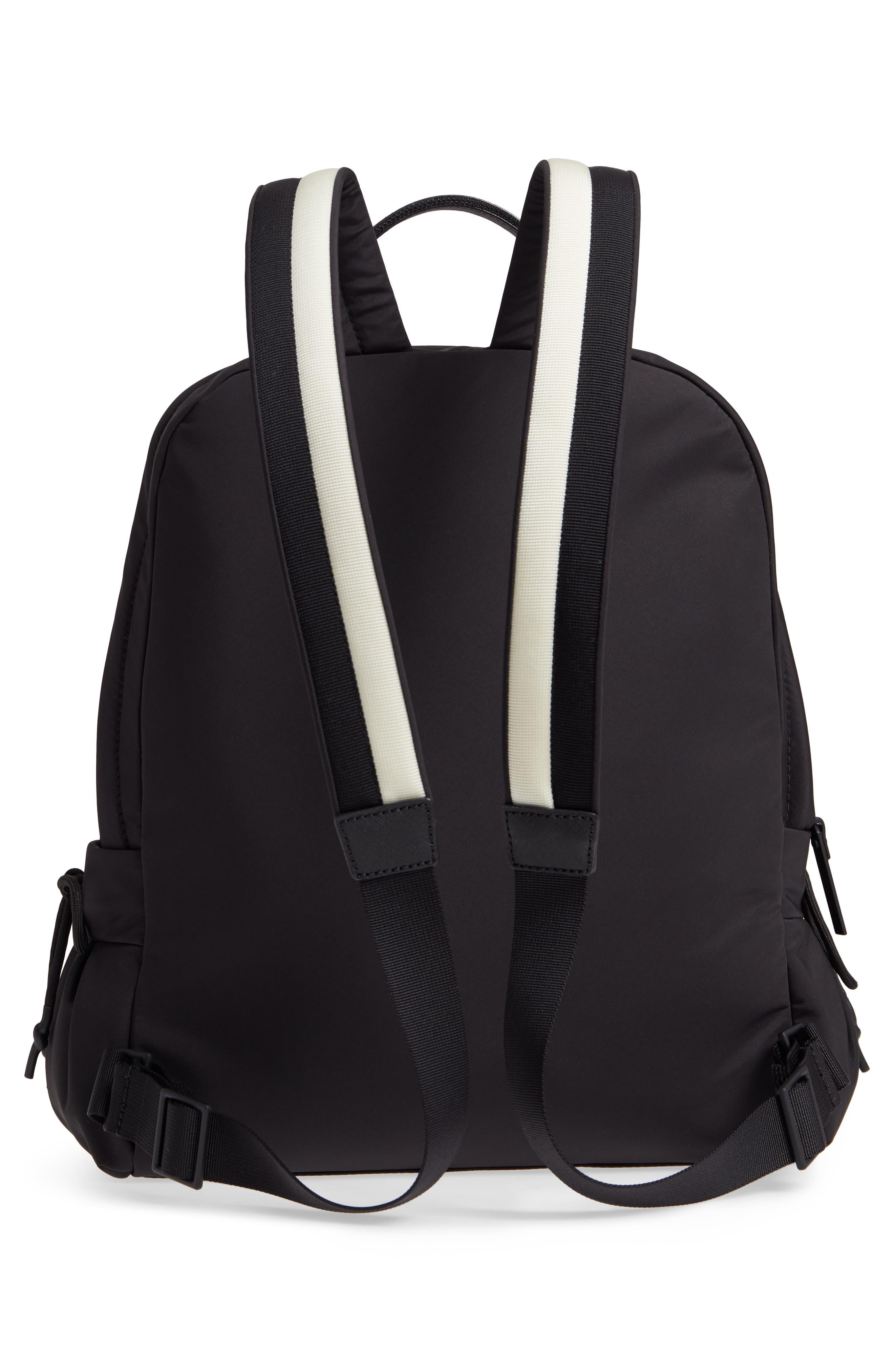 that's the spirit nylon backpack,                             Alternate thumbnail 3, color,                             BLACK