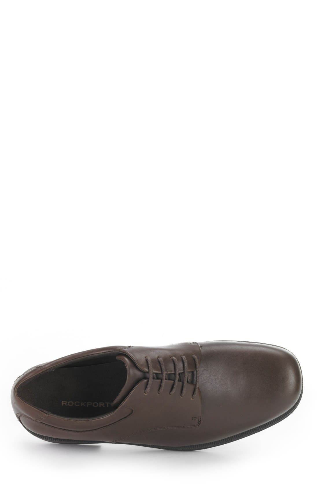 'Margin' Oxford,                             Alternate thumbnail 2, color,                             CHOCOLATE LEATHER
