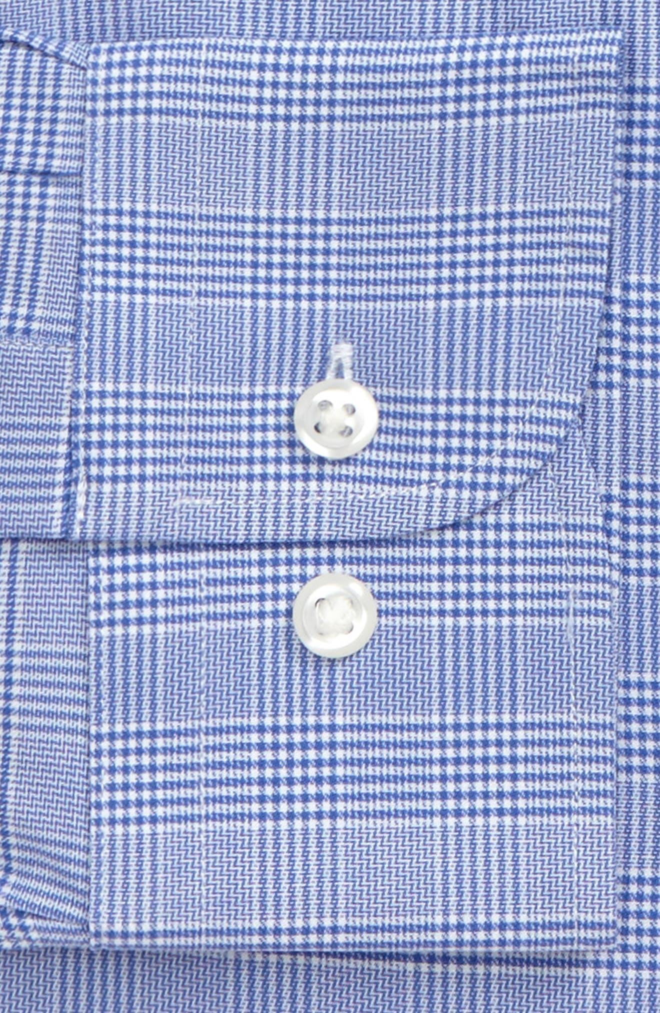 Tech-Smart Trim Fit Stretch Plaid Dress Shirt,                             Alternate thumbnail 12, color,