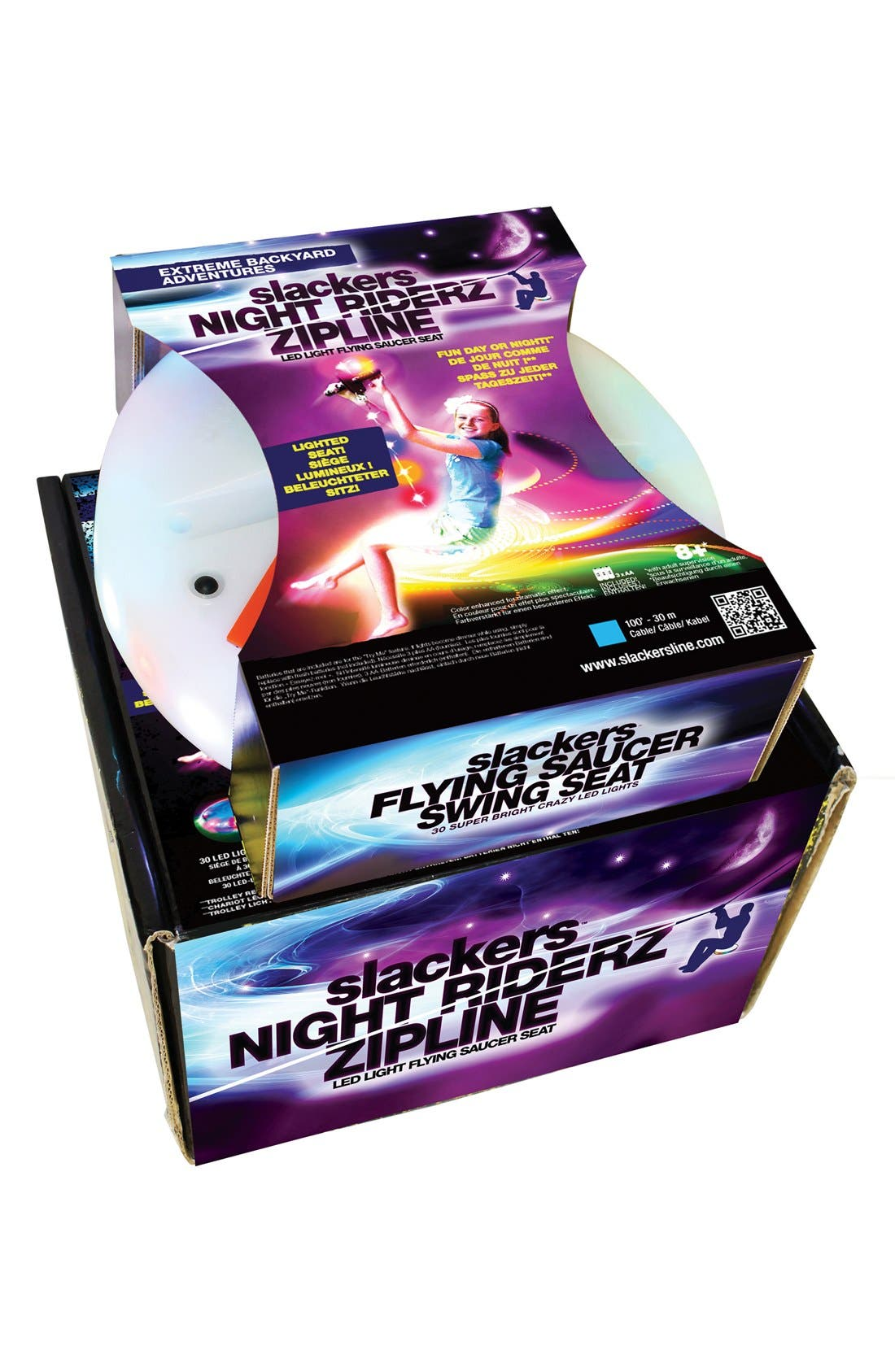 'Slackers Night Riderz' Zipline with LED Seat,                         Main,                         color, 961