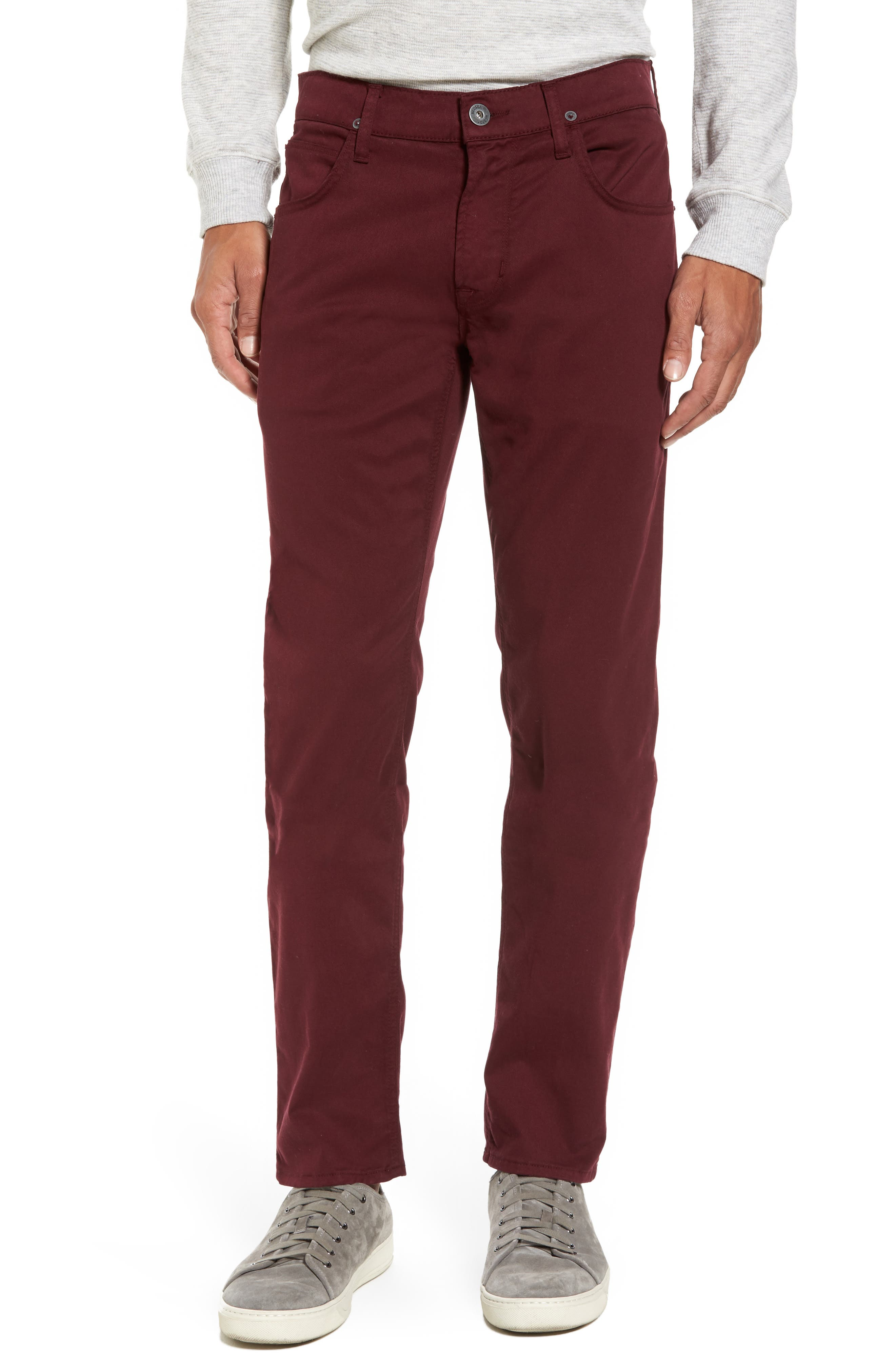 Blake Slim Fit Jeans,                             Main thumbnail 1, color,                             BURGUNDY