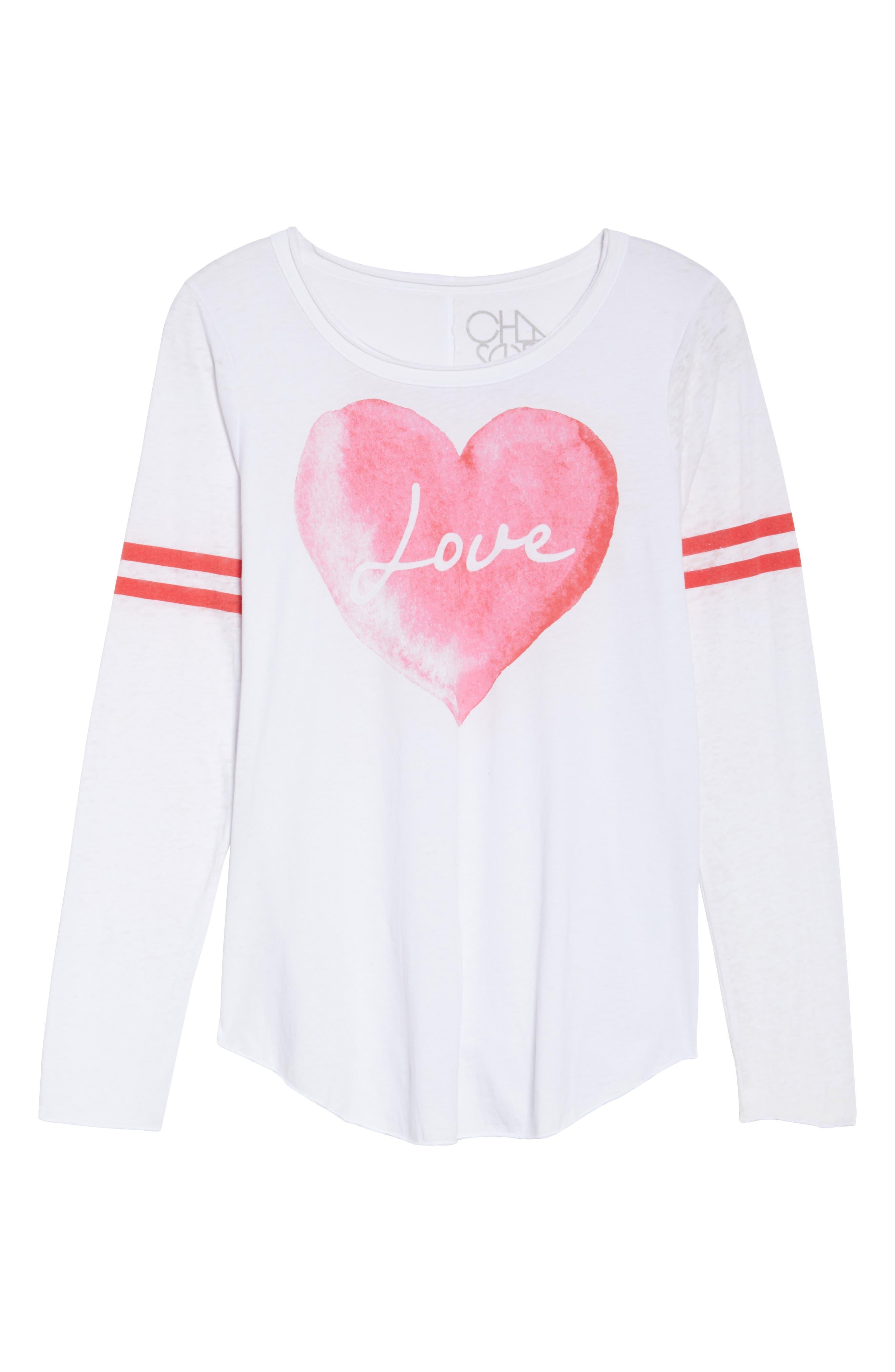Lover Heart Tee,                             Alternate thumbnail 6, color,                             100