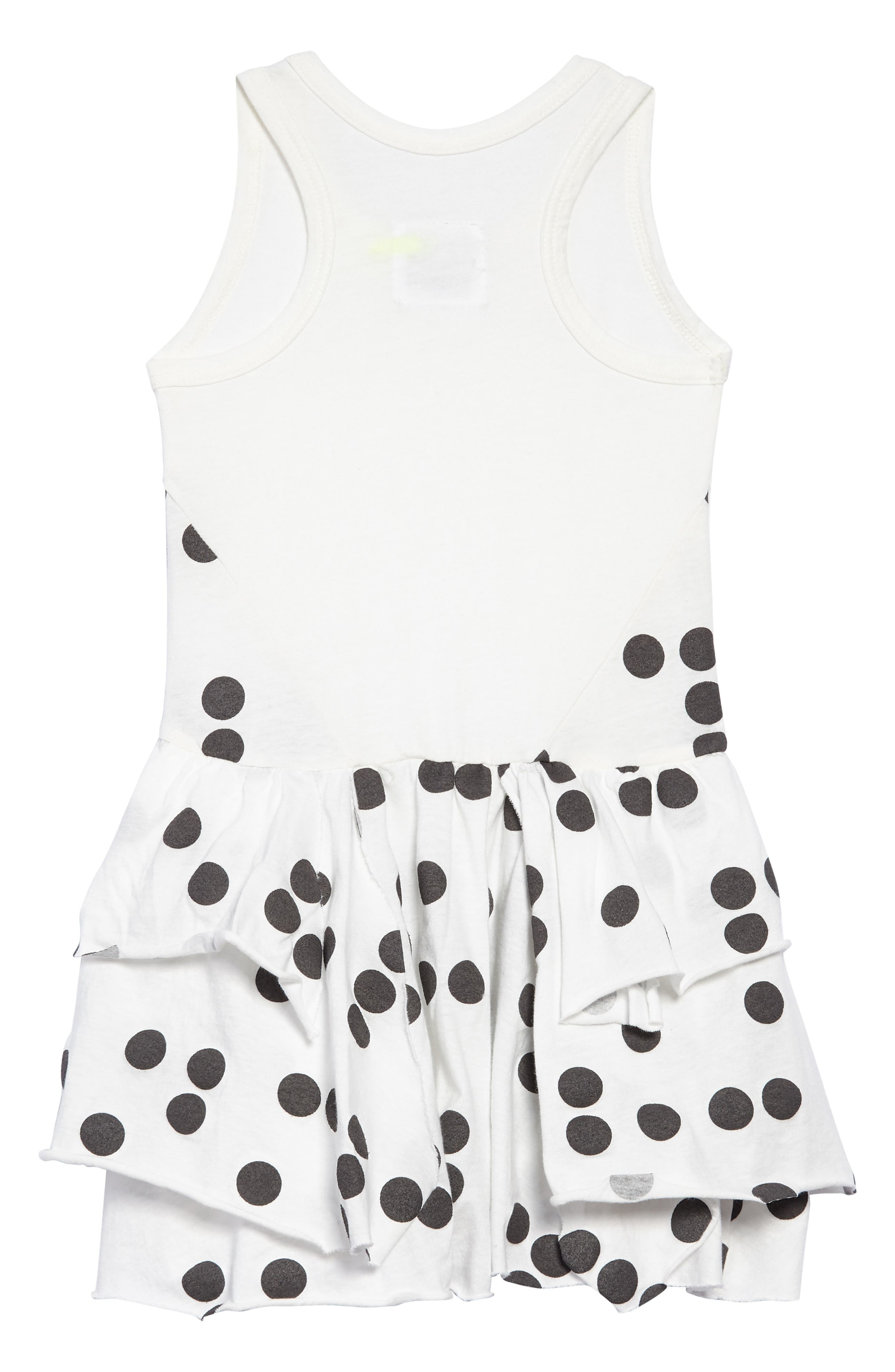 Braille Dot Layered Tank Dress,                             Alternate thumbnail 2, color,                             WHITE