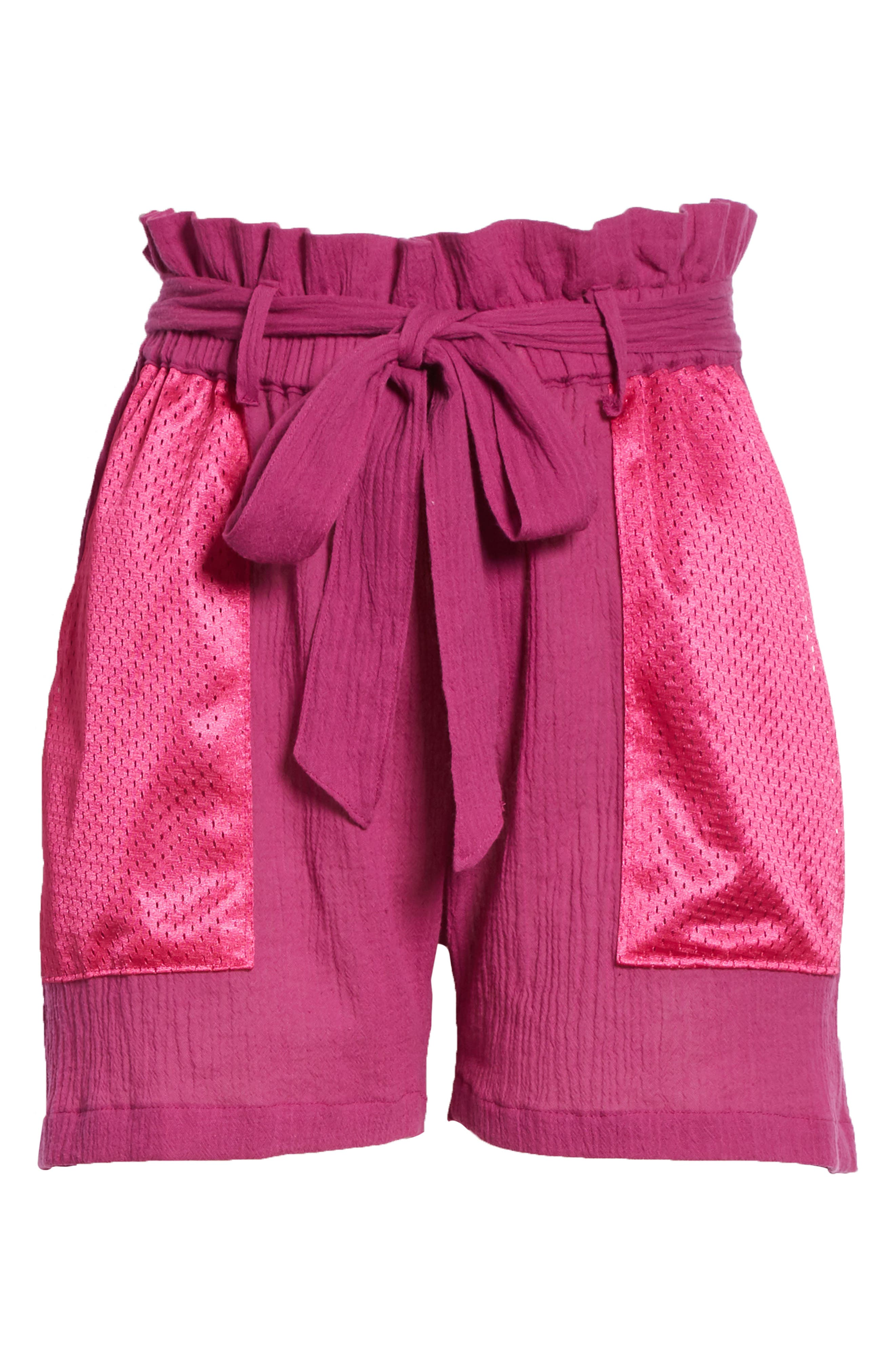 Island Mesh Pocket Shorts,                             Alternate thumbnail 6, color,                             MAGENTA