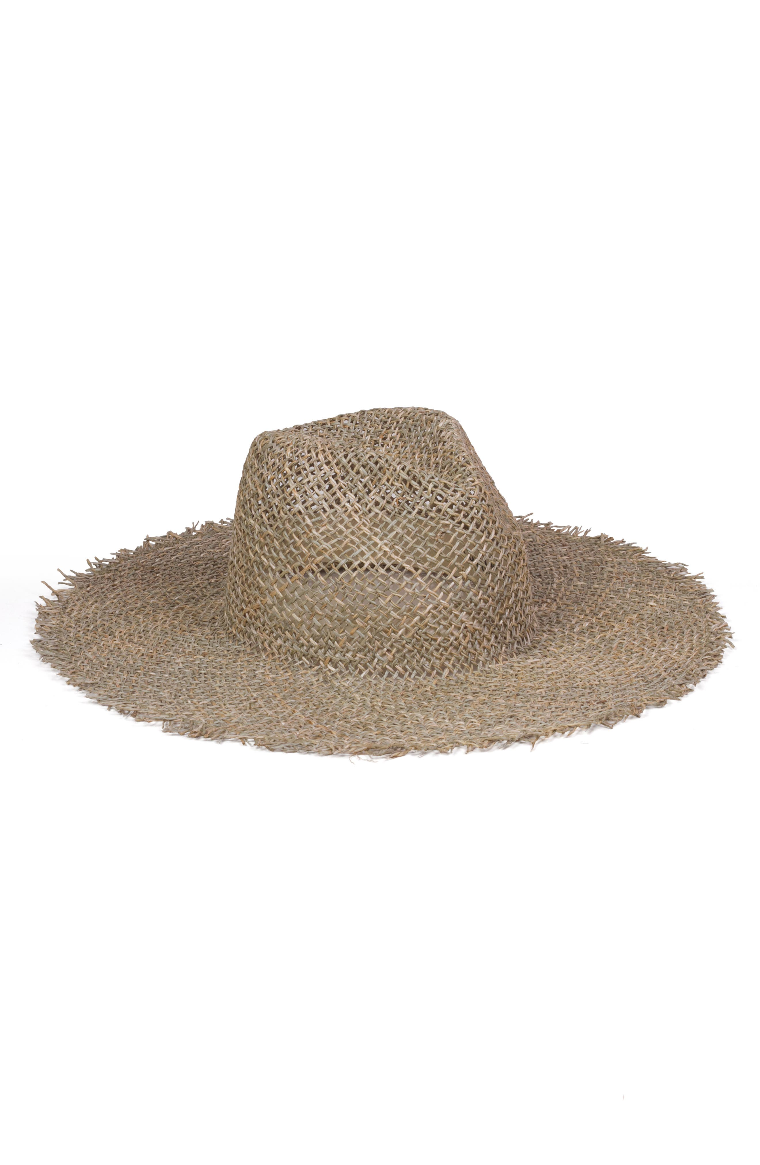 LACK OF COLOR Sunny Zip Fedora Hat - Brown in Seagrass
