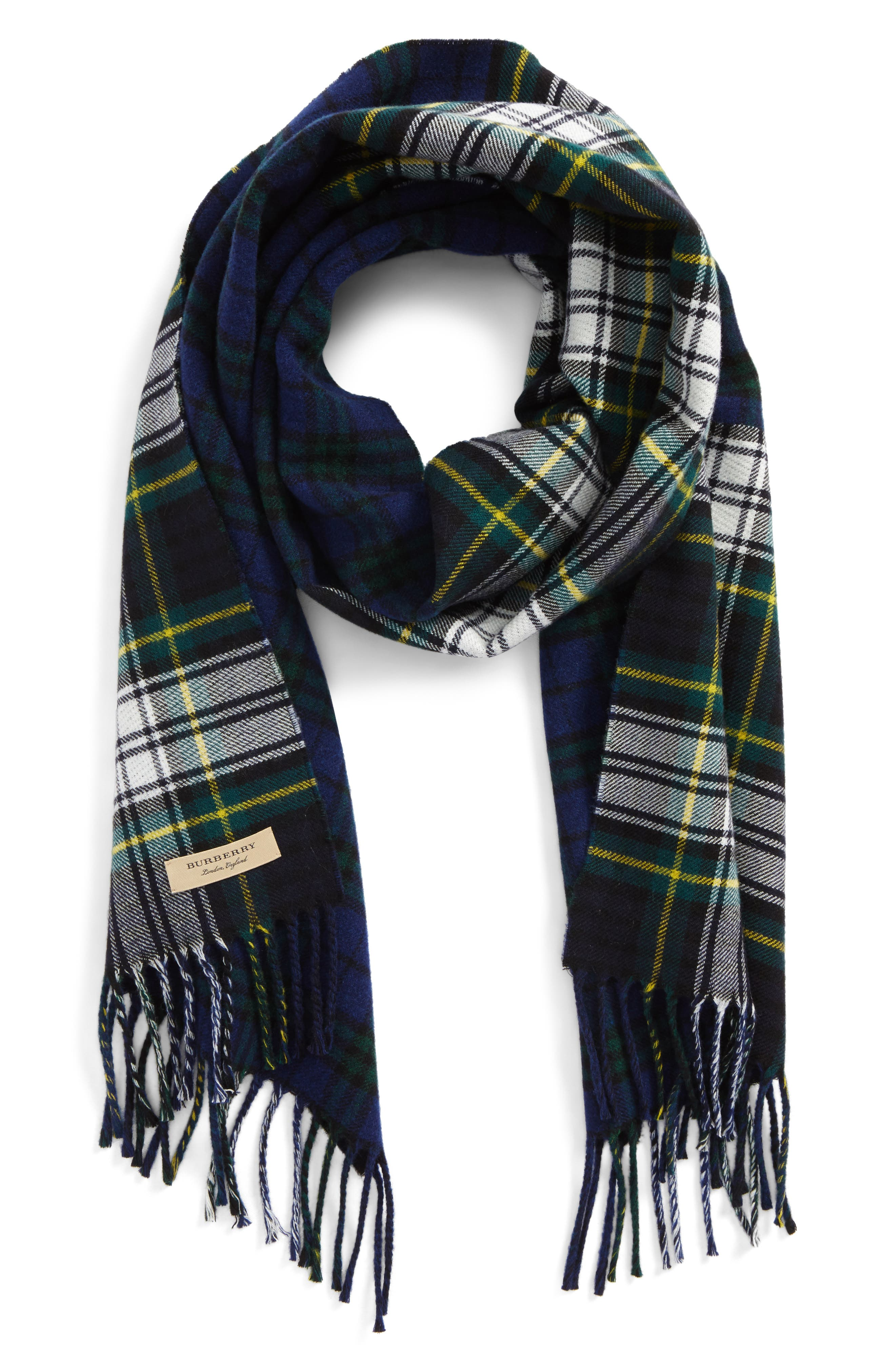Check Wool Scarf,                         Main,                         color,