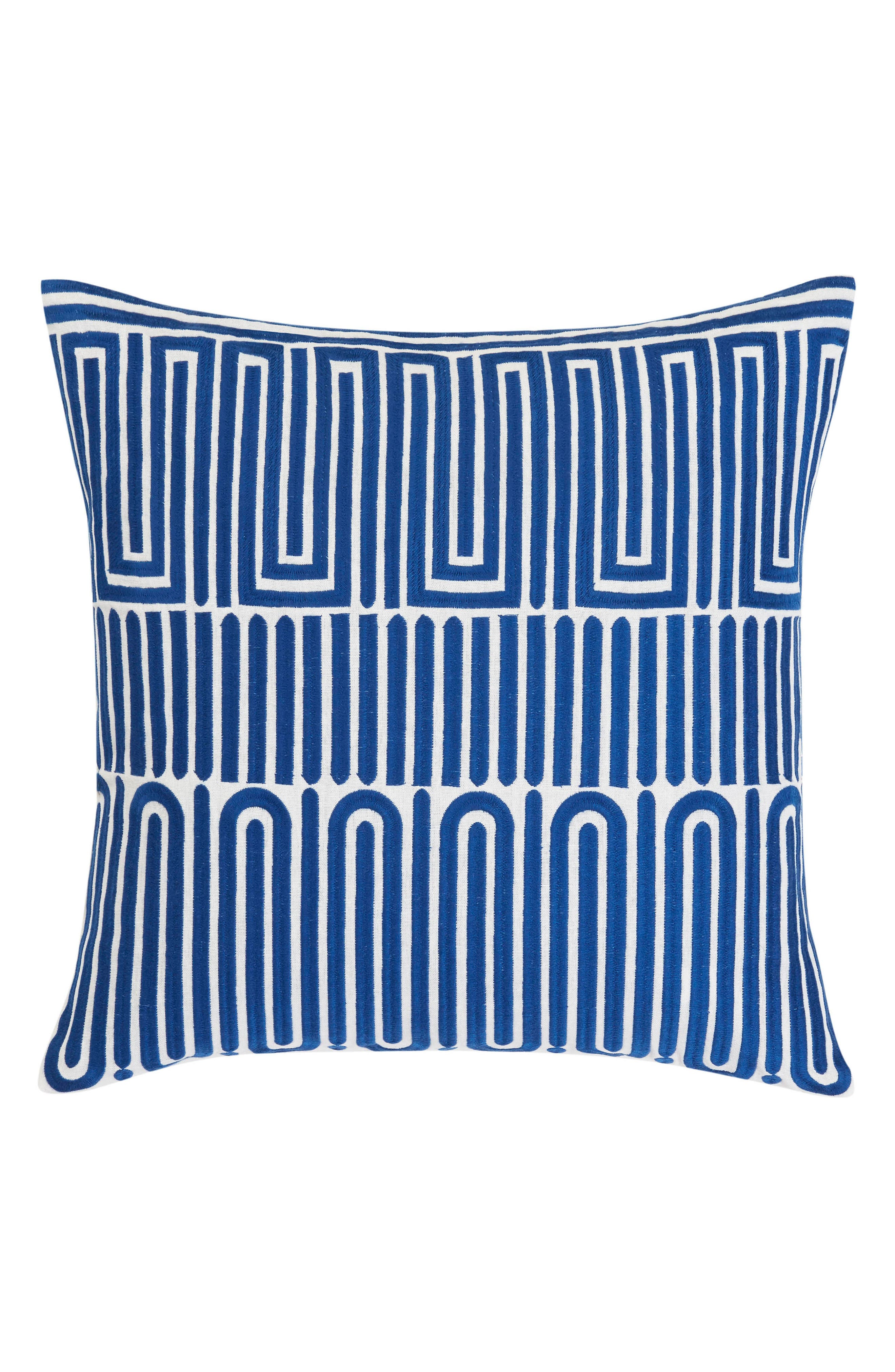 Racket Club Accent Pillow,                         Main,                         color, DARK BLUE