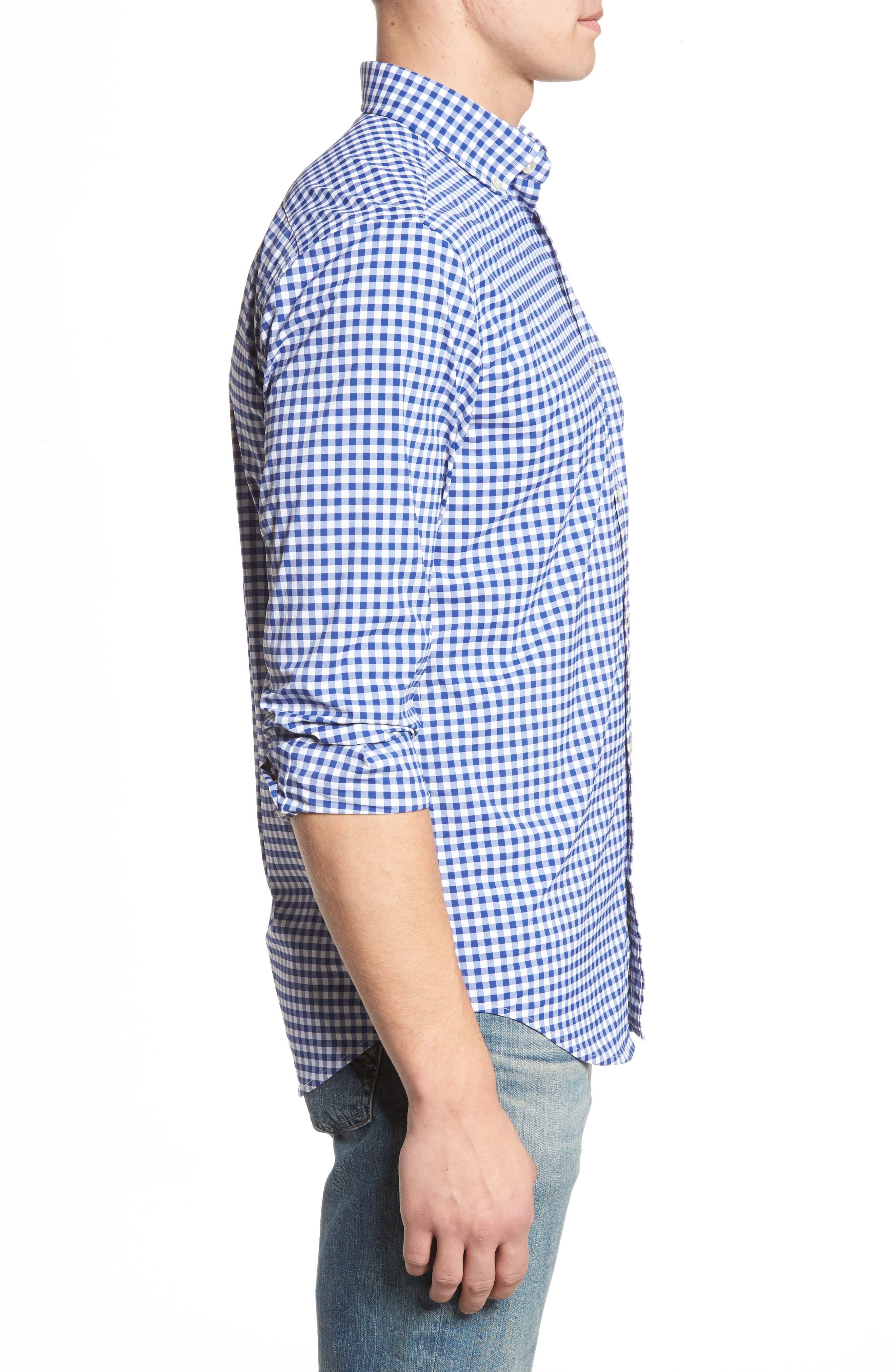 Ferndale Tucker Classic Fit Gingham Sport Shirt,                             Alternate thumbnail 3, color,                             461