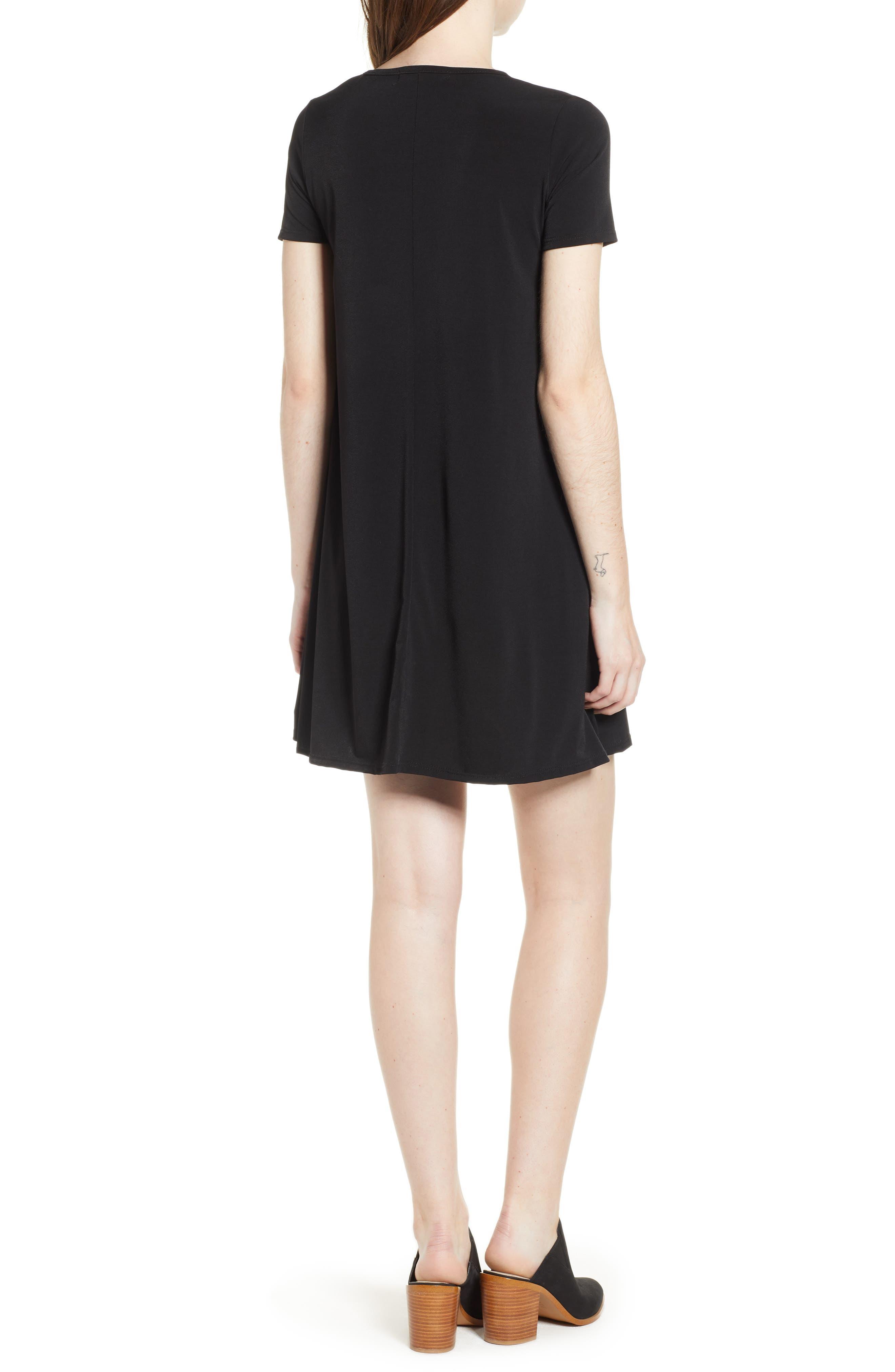 Swing T-Shirt Dress,                             Alternate thumbnail 2, color,                             001