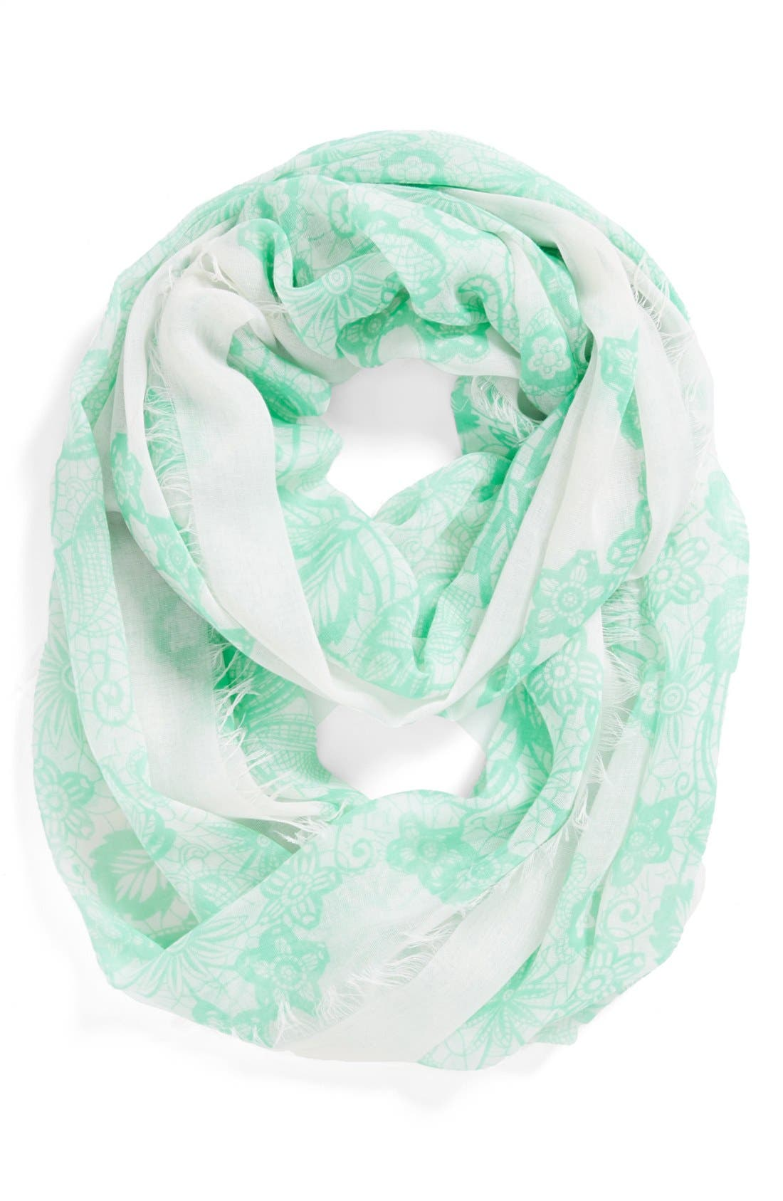 'Floral Lace' Infinity Scarf,                             Main thumbnail 1, color,                             440