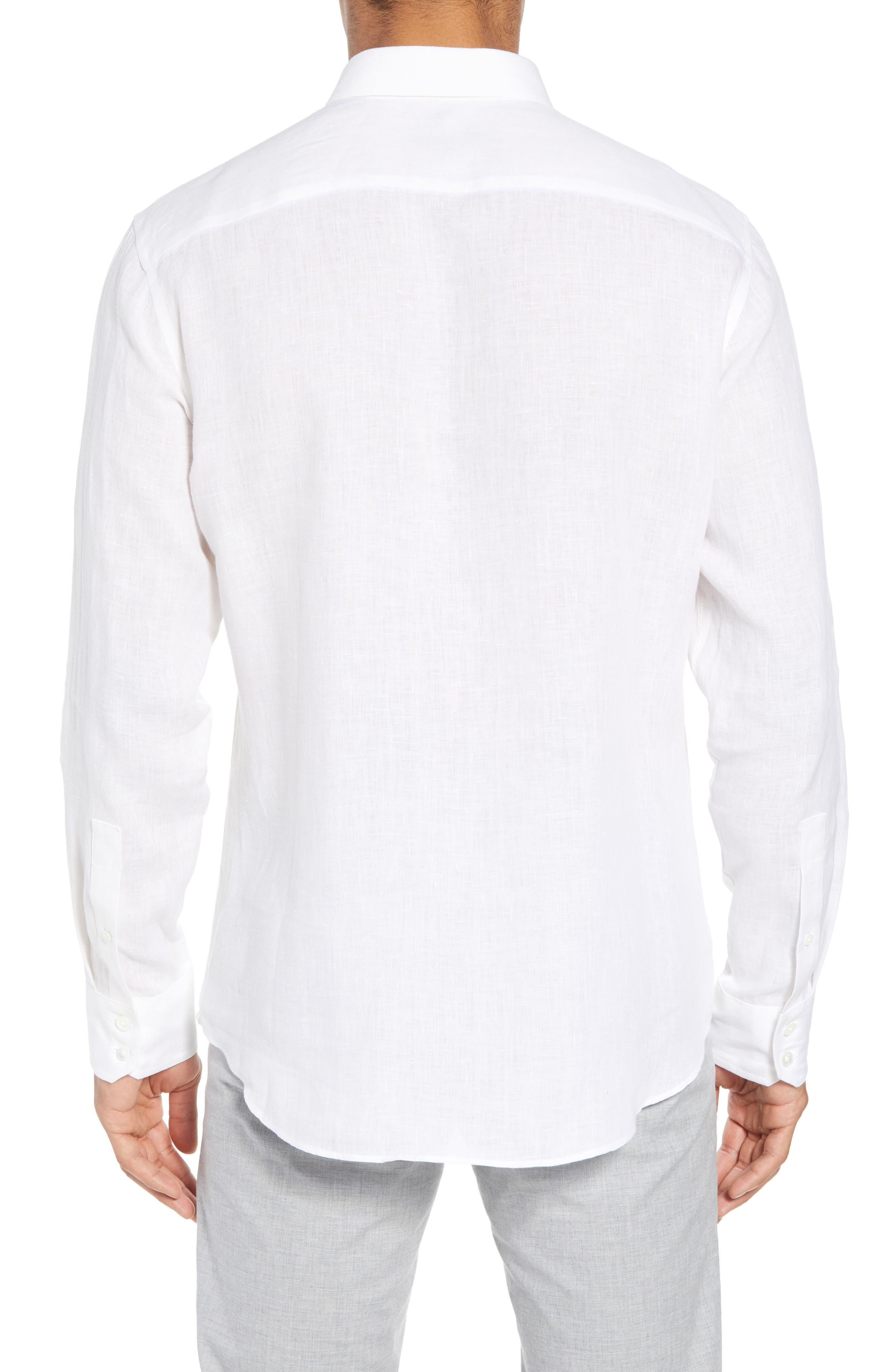 Yang Linen Sport Shirt,                             Alternate thumbnail 2, color,                             WHITE