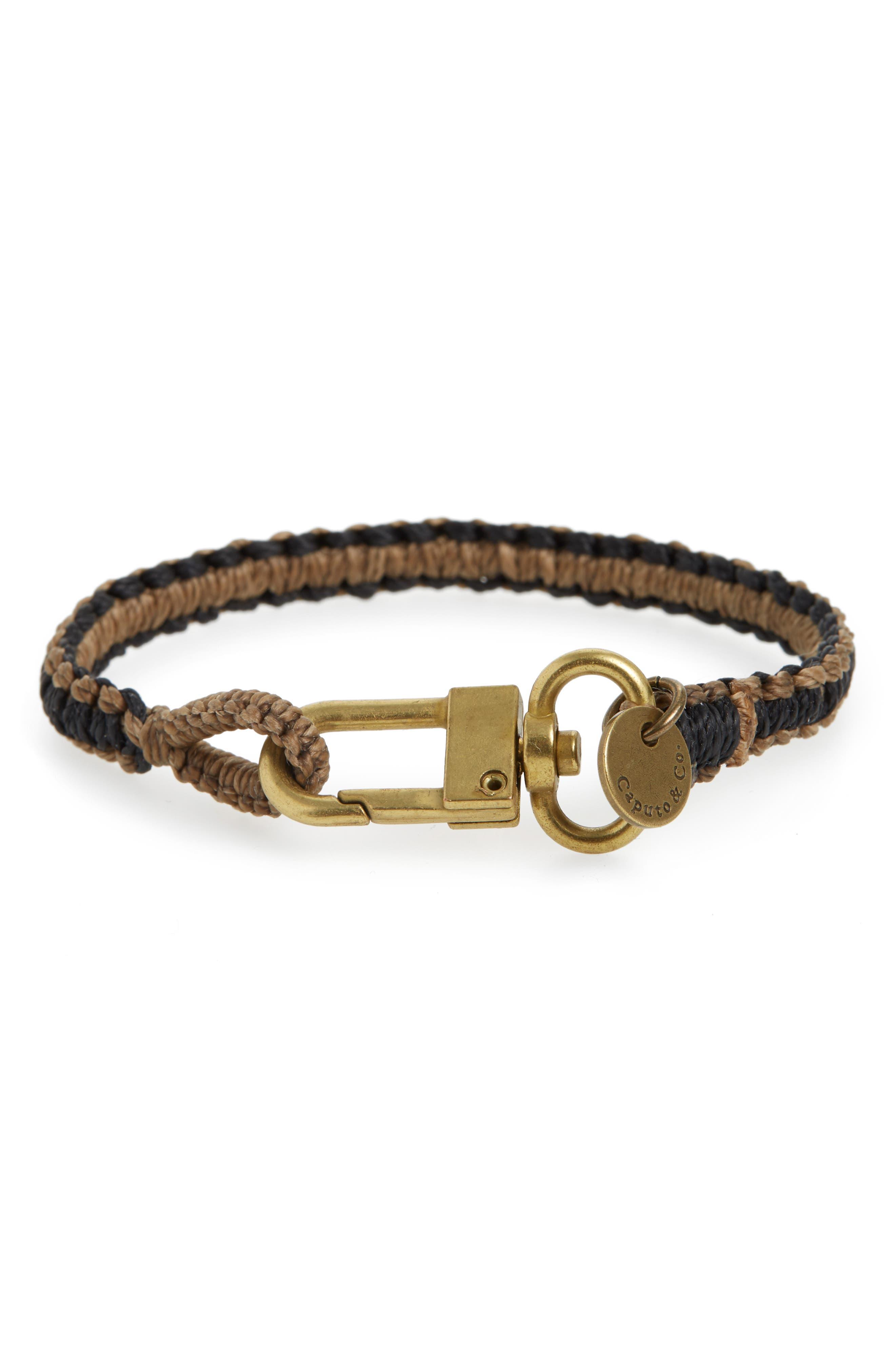 Reversible Bracelet,                             Alternate thumbnail 2, color,                             BROWN/ BLACK