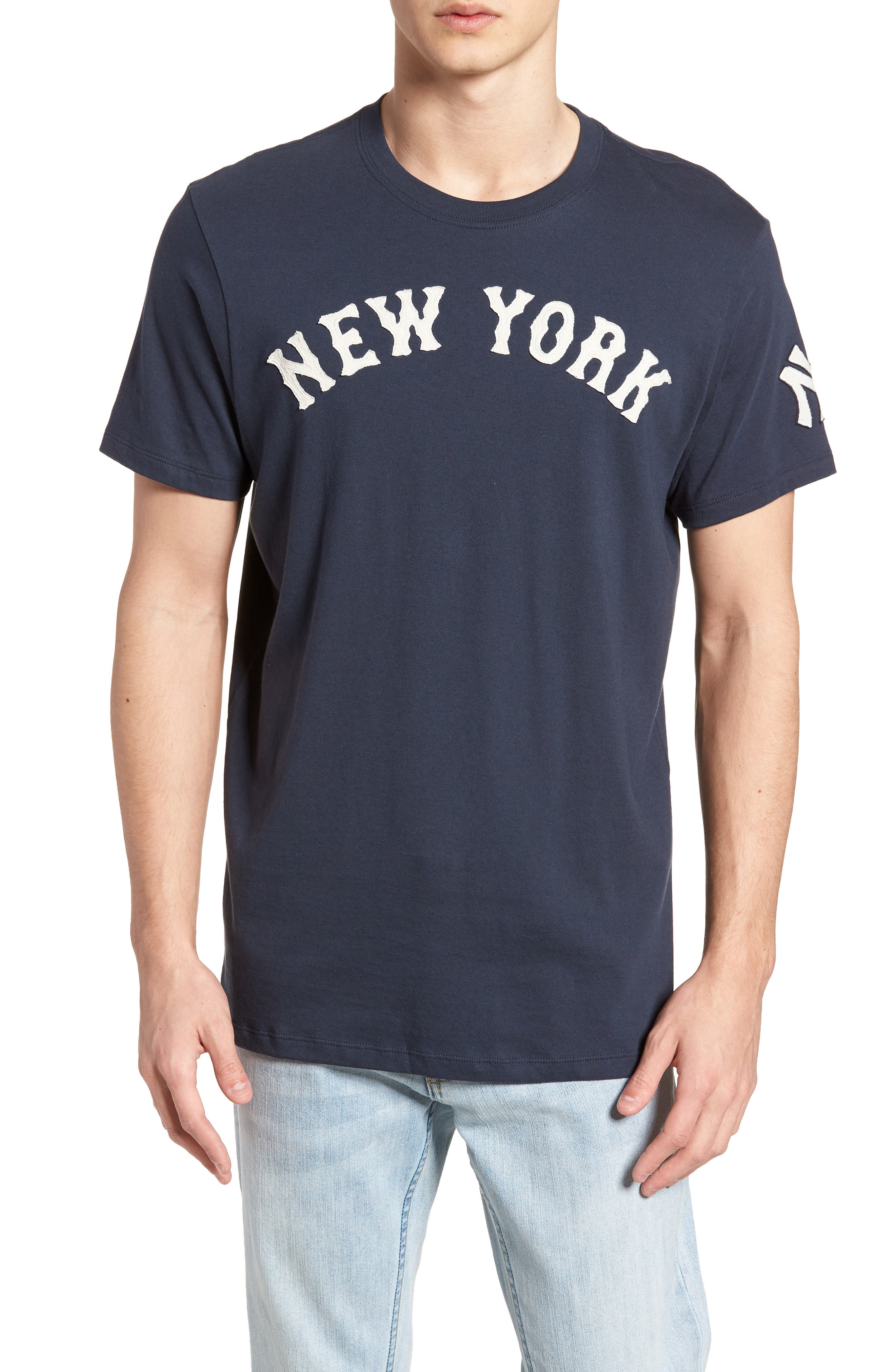 MLB Vintage Fieldhouse New York Yankees T-Shirt,                         Main,                         color, MIDNIGHT