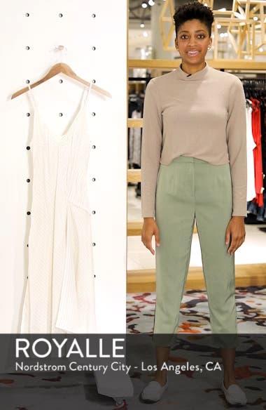 Bay Area Pinstripe Asymmetric Midi Dress, sales video thumbnail