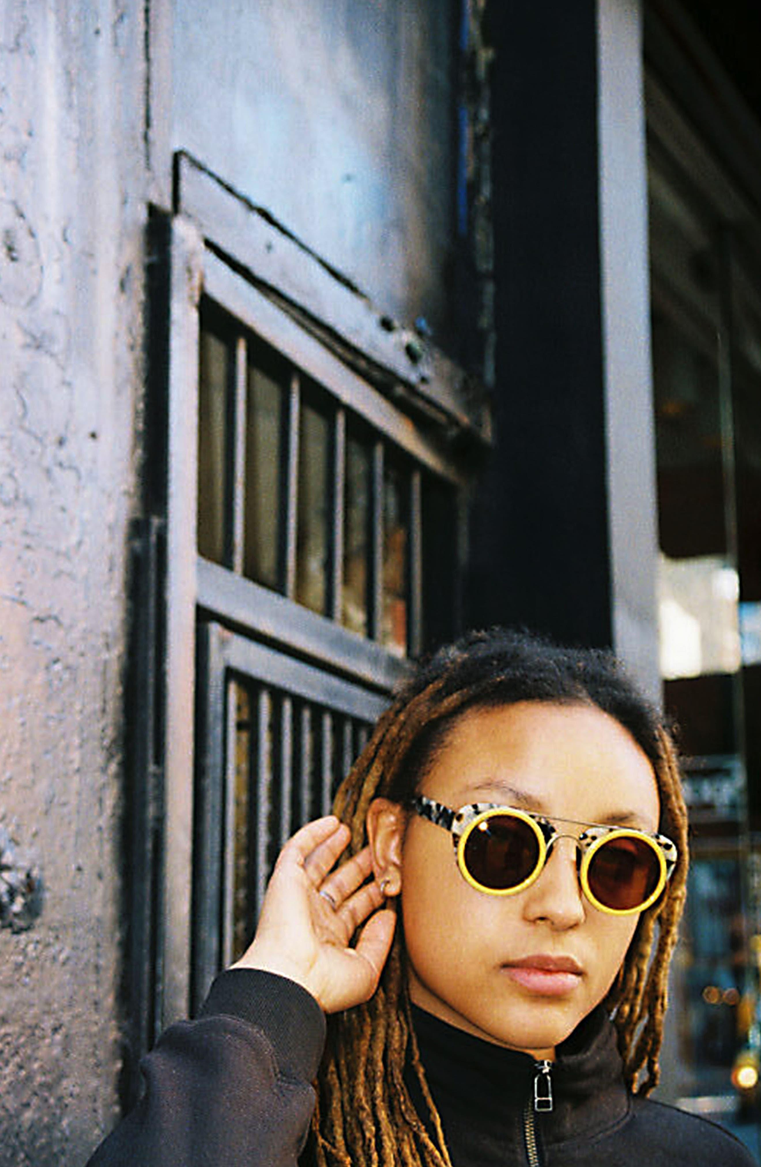 Soda Pop 3 47mm Round Sunglasses,                             Alternate thumbnail 3, color,                             BURGUNDY/ BURGUNDY/ GOLD