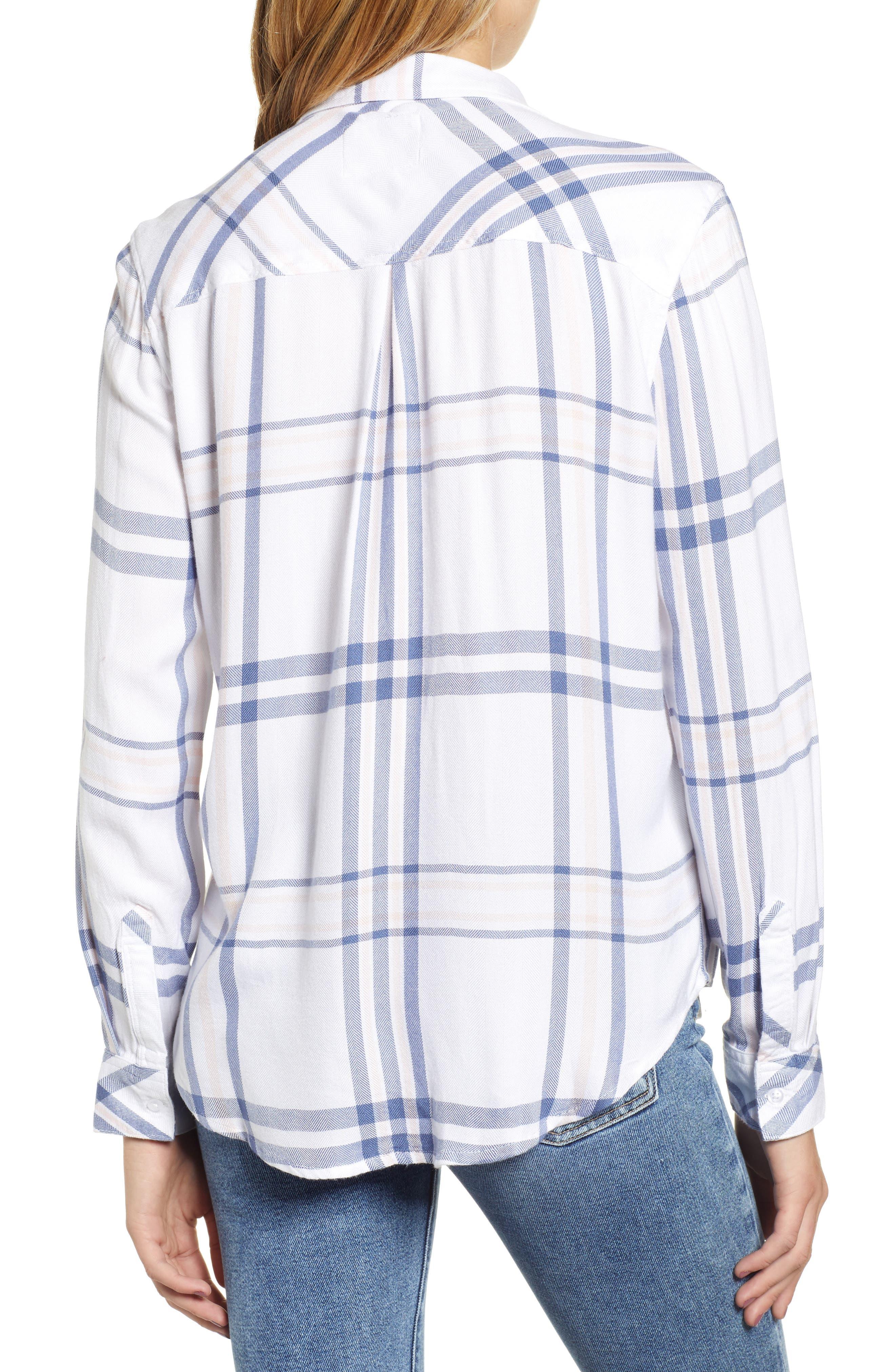 Hunter Plaid Shirt,                             Alternate thumbnail 2, color,                             INDIGO POWDER BLUSH