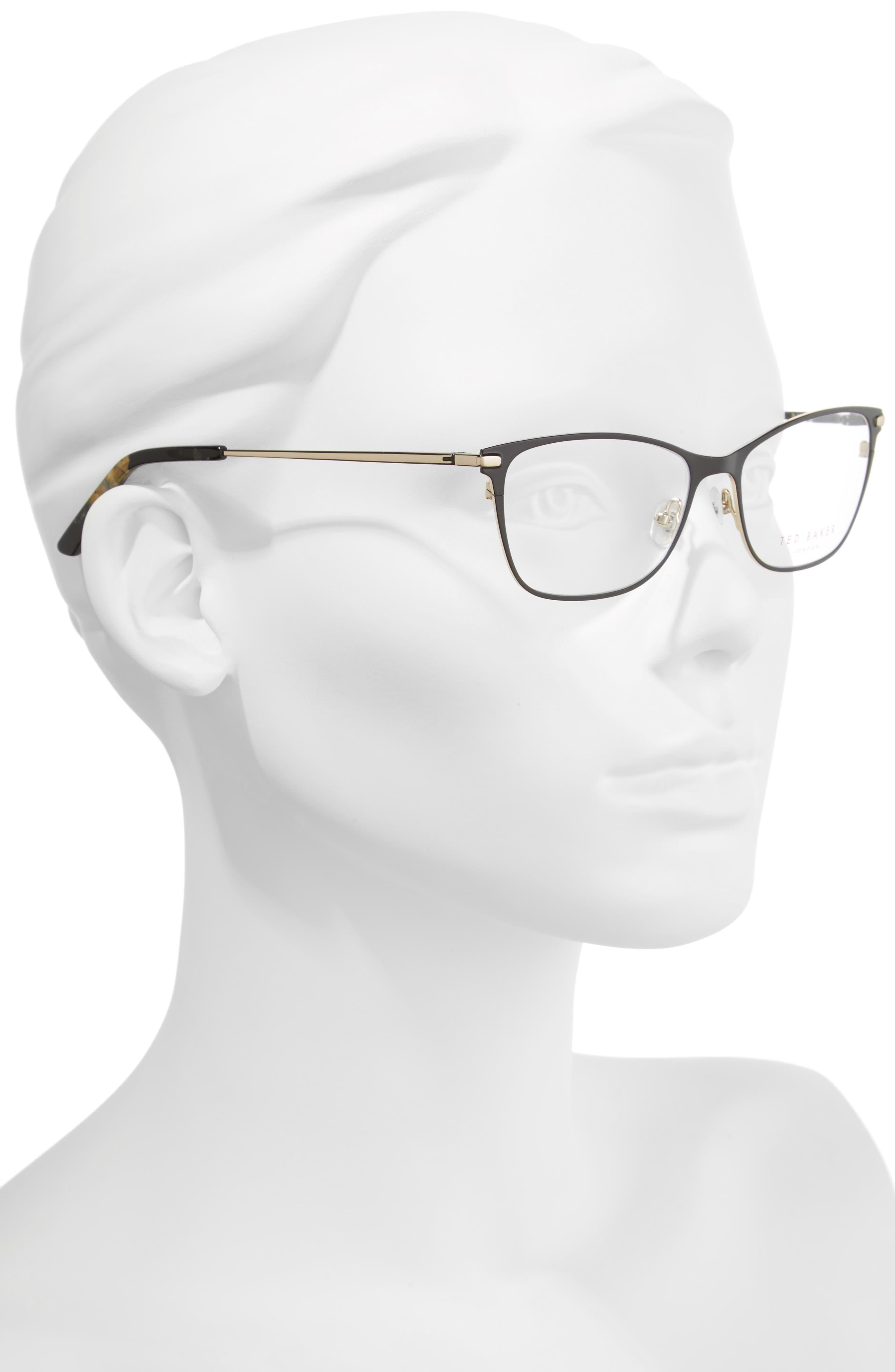 51mm Metal Cat Eye Optical Glasses,                             Alternate thumbnail 2, color,                             001