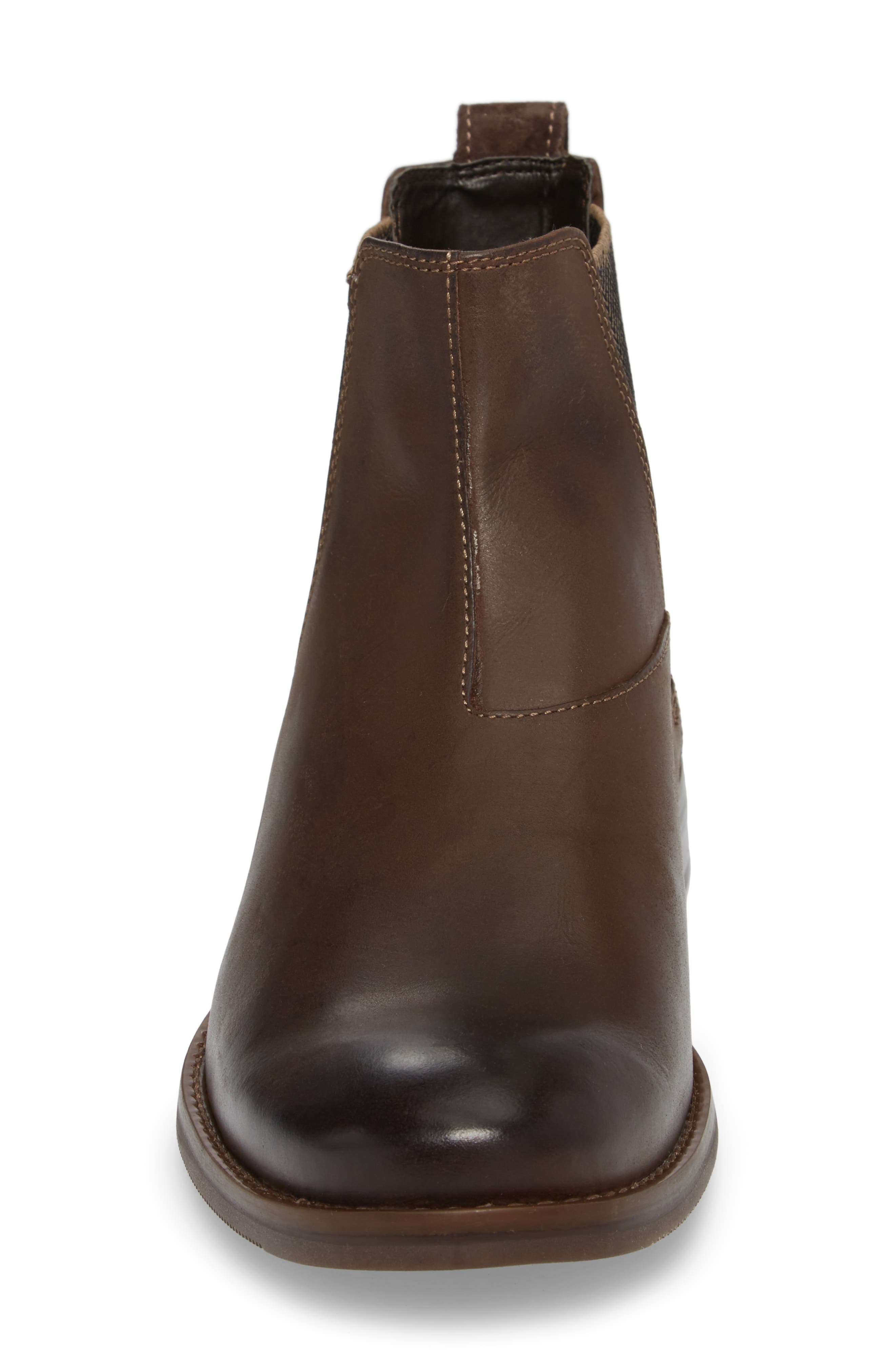 Wynstin Chelsea Boot,                             Alternate thumbnail 4, color,                             DARK BITTER CHOCOLATE LEATHER