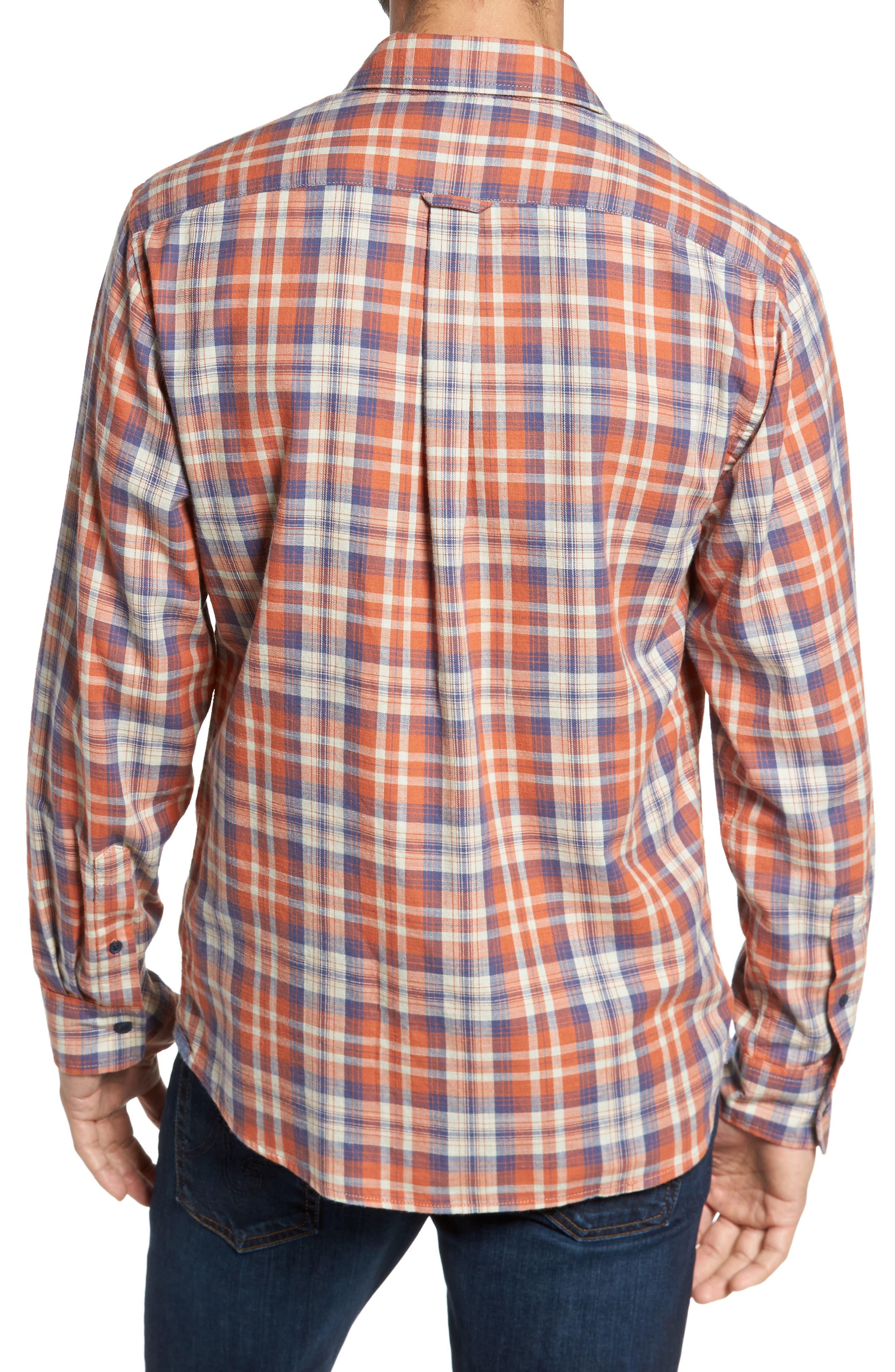 Scottsdale Slim Fit Plaid Slub Twill Sport Shirt,                             Alternate thumbnail 2, color,                             840
