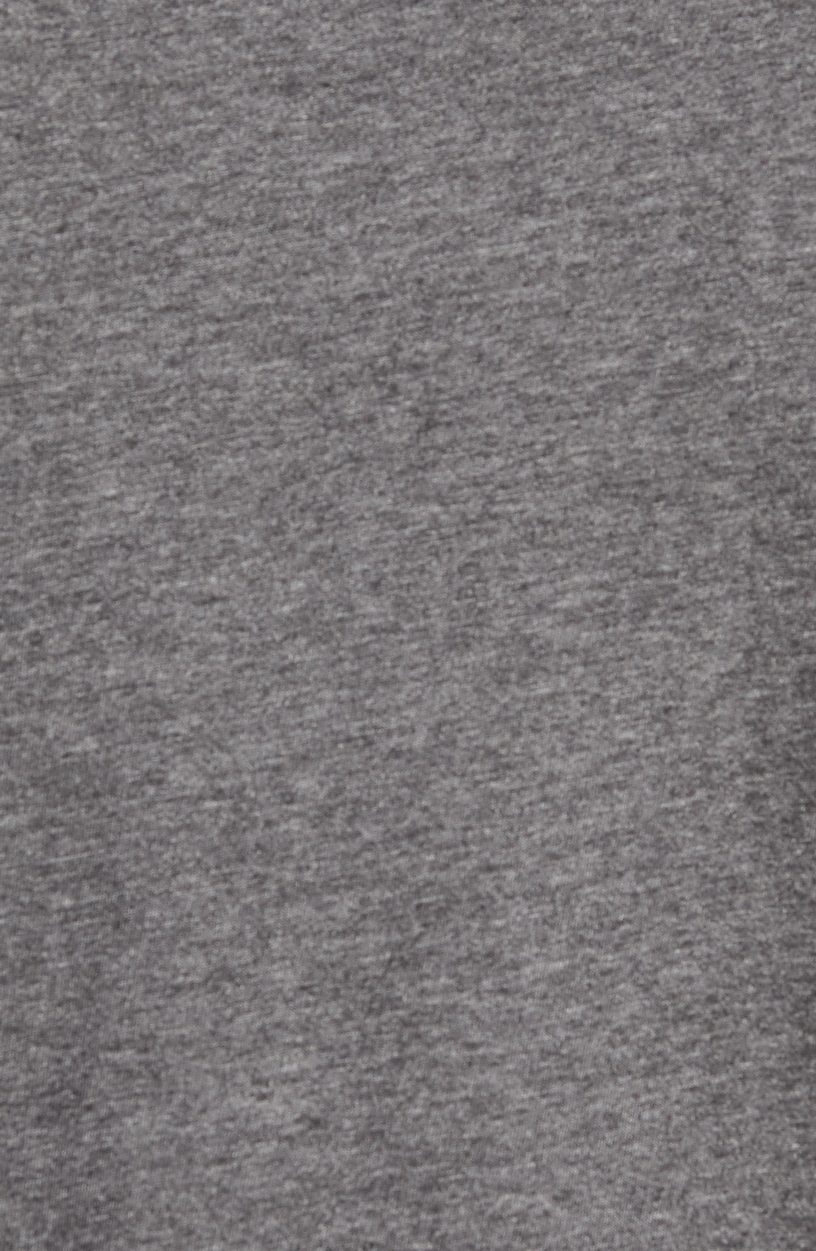 A Bomb Jersey Polo,                             Alternate thumbnail 5, color,                             HEATHER DARK GREY