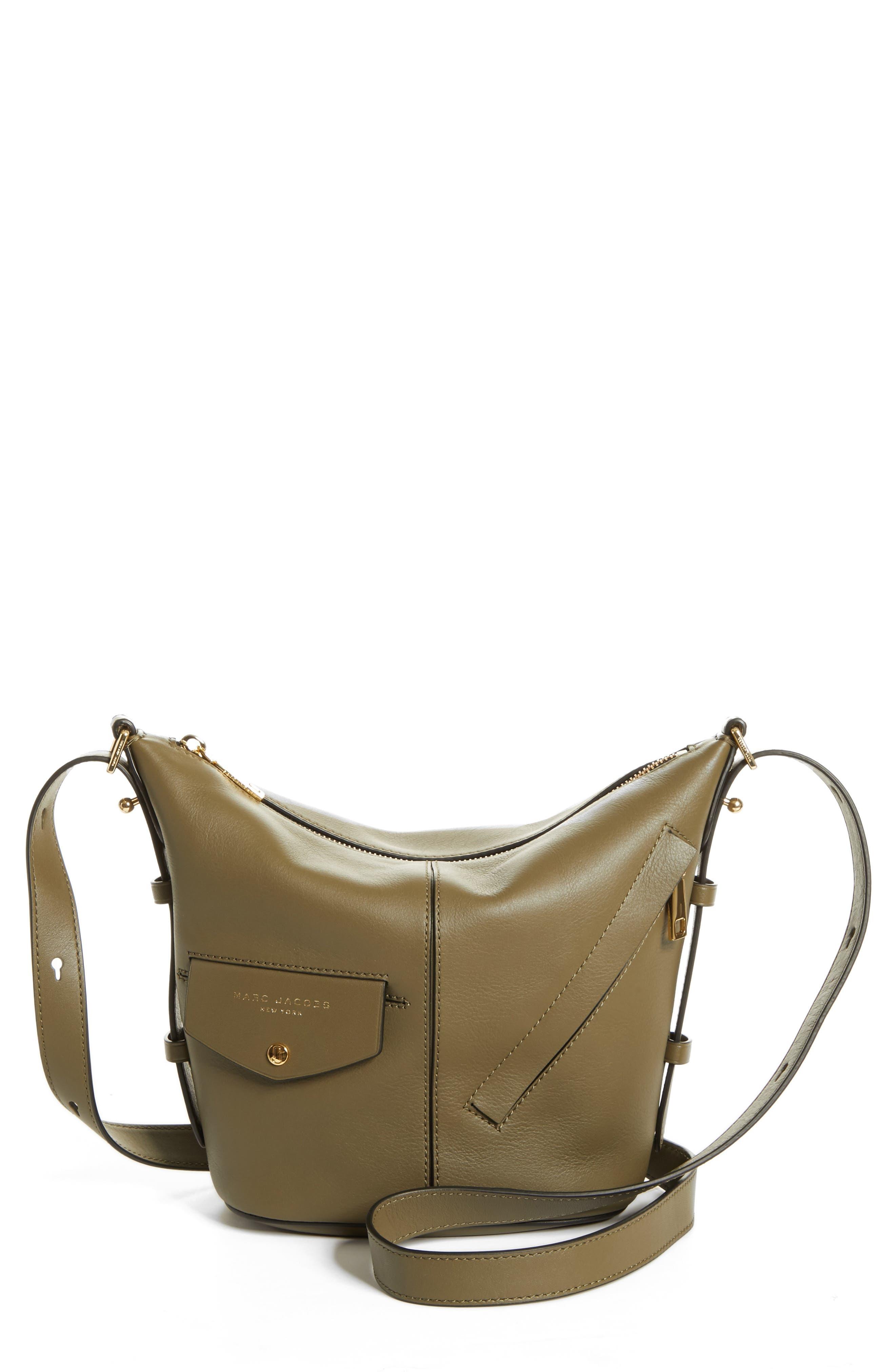 The Mini Sling Convertible Leather Hobo,                             Main thumbnail 4, color,