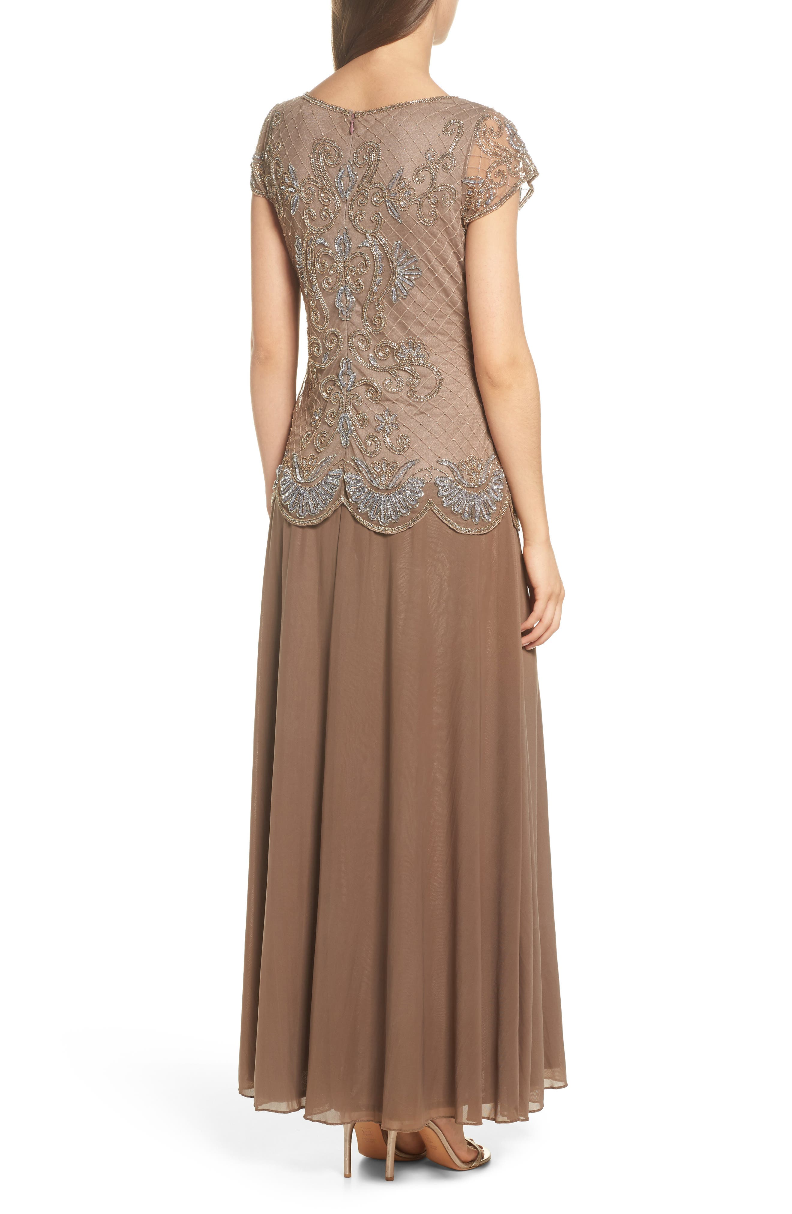 Embellished Mock Two-Piece Gown,                             Alternate thumbnail 2, color,                             230