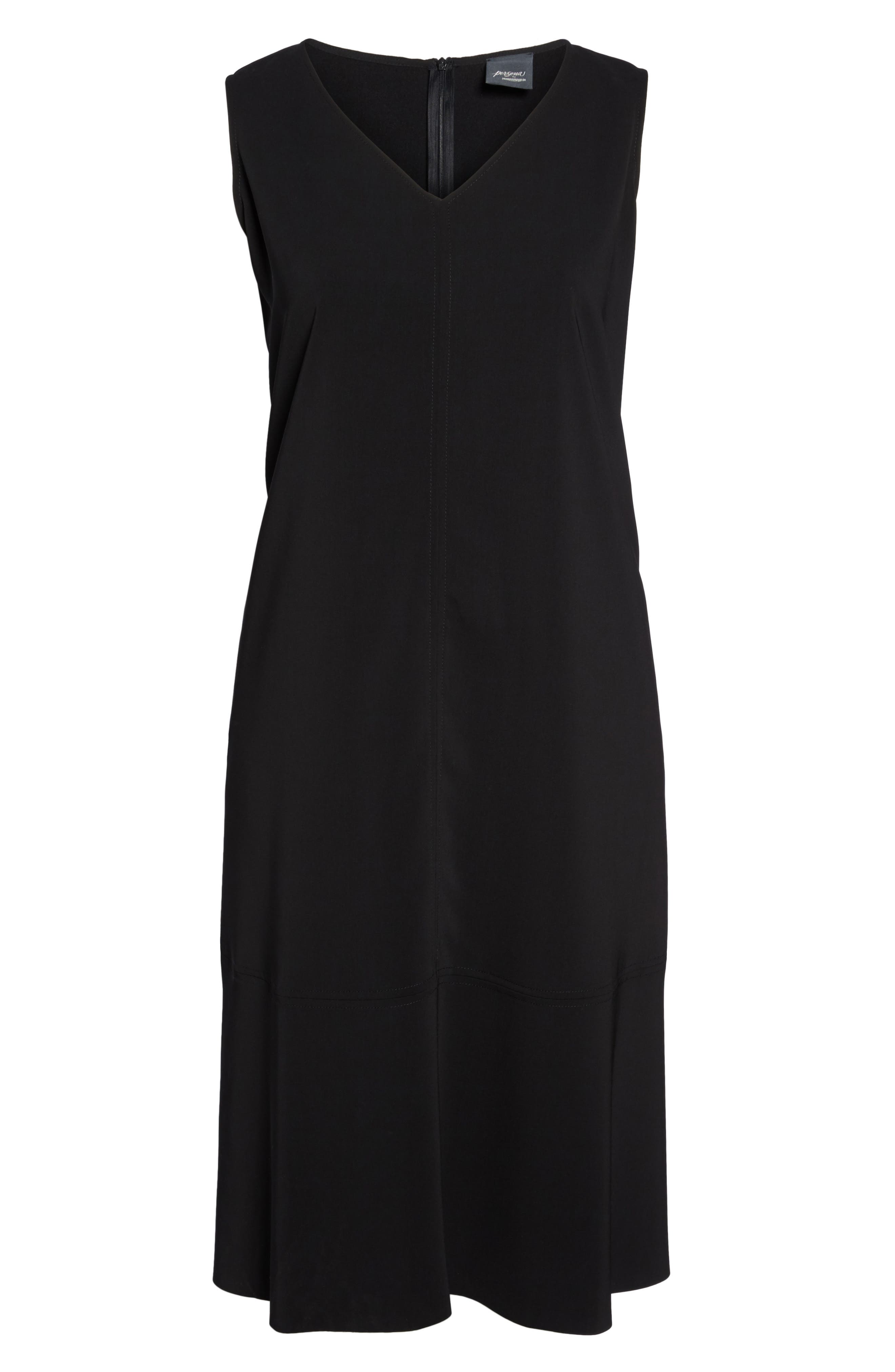 Donna Sleeveless Maxi Dress,                             Alternate thumbnail 6, color,                             001