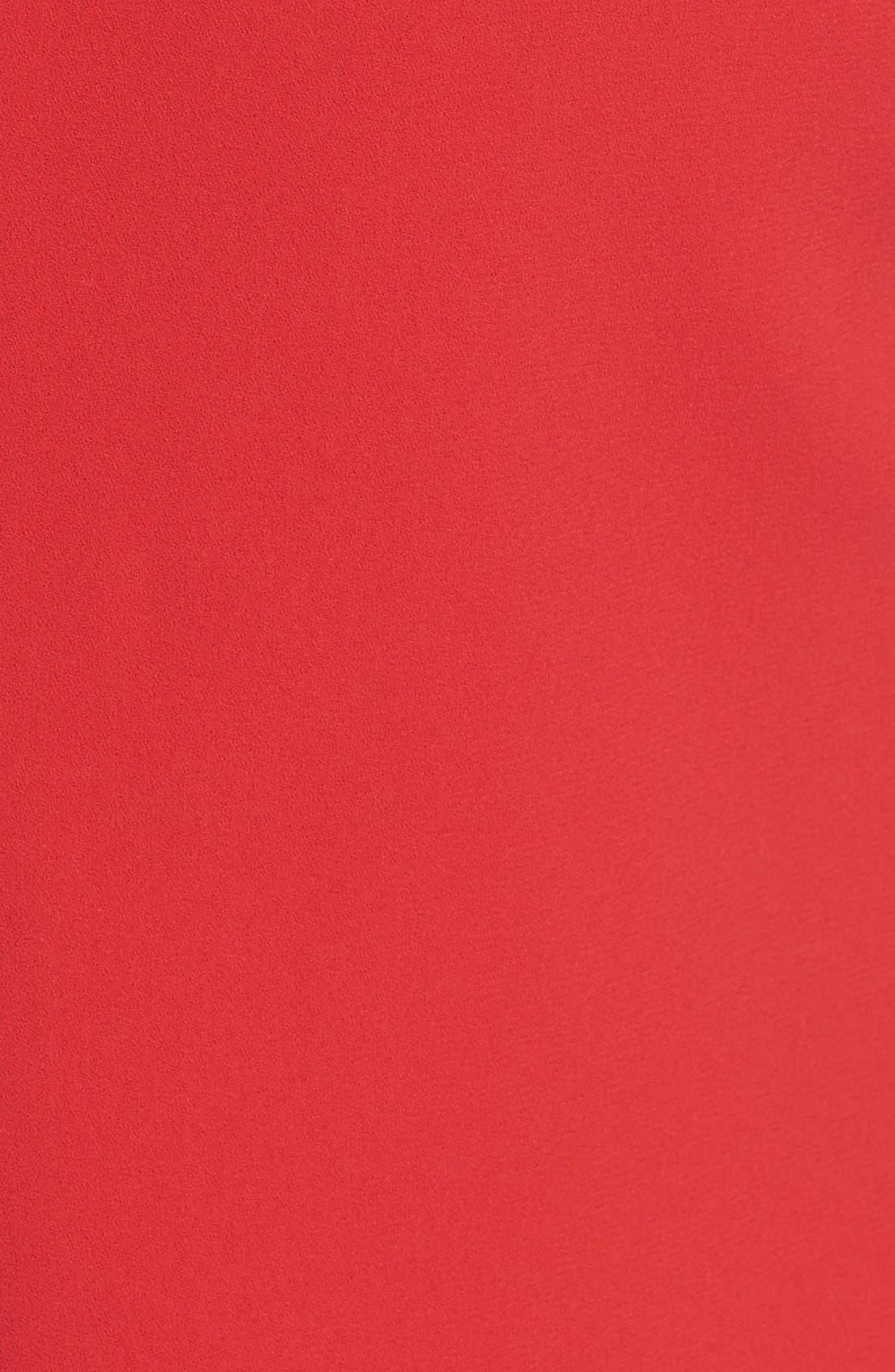 ALICE + OLIVIA,                             'Coley' Mock Neck A-Line Dress,                             Alternate thumbnail 3, color,                             623