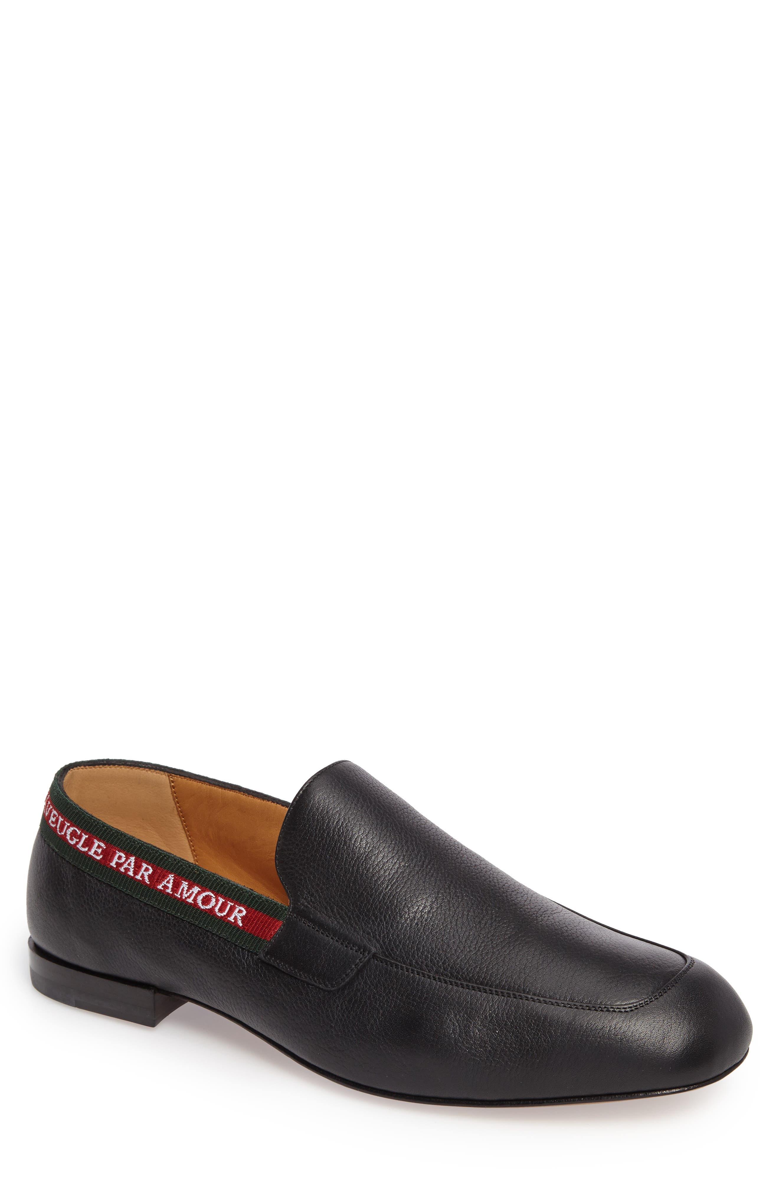 Web Detail Leather Loafer,                         Main,                         color, 013